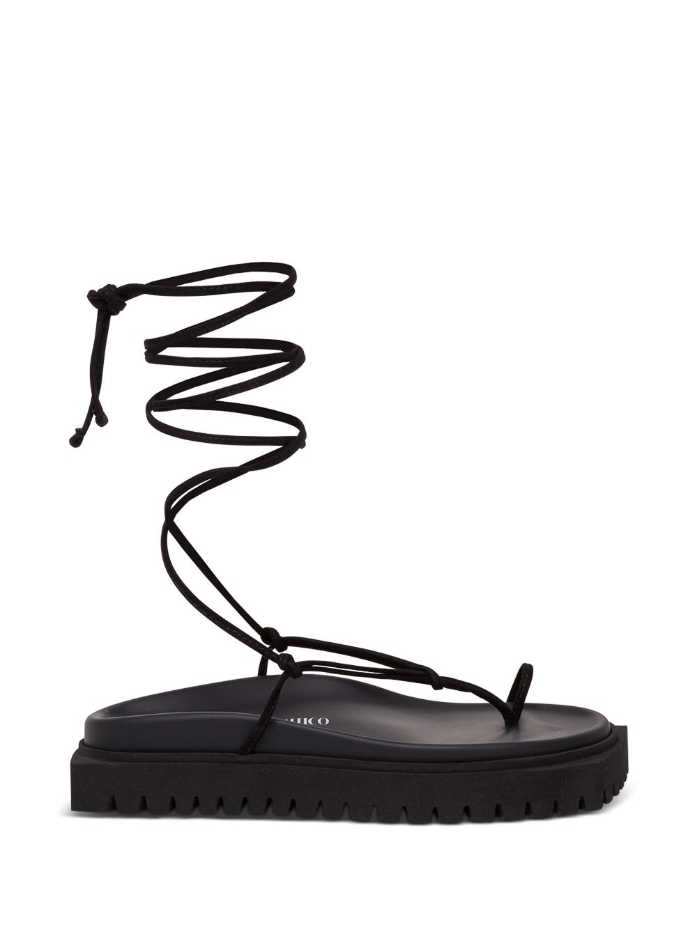 Attico FLAT LACE-UP THONG SANDALS