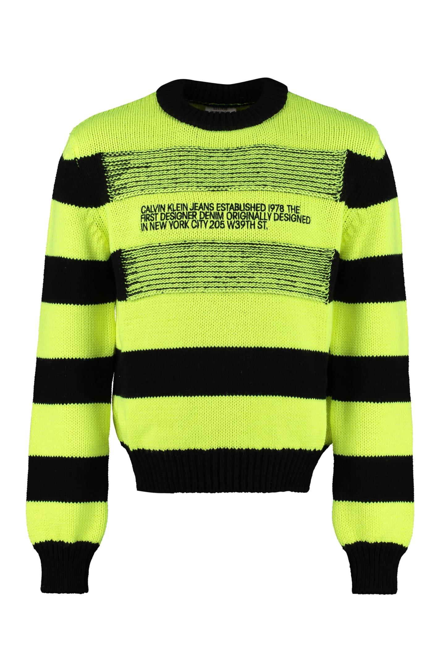 Calvin Klein Jeans Striped Crew-neck Sweater