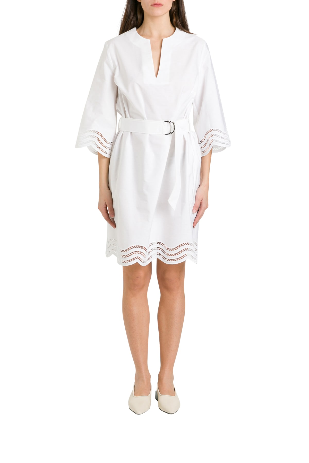 Buy Parosh Cojourd Scalloped Hem Dress online, shop Parosh with free shipping