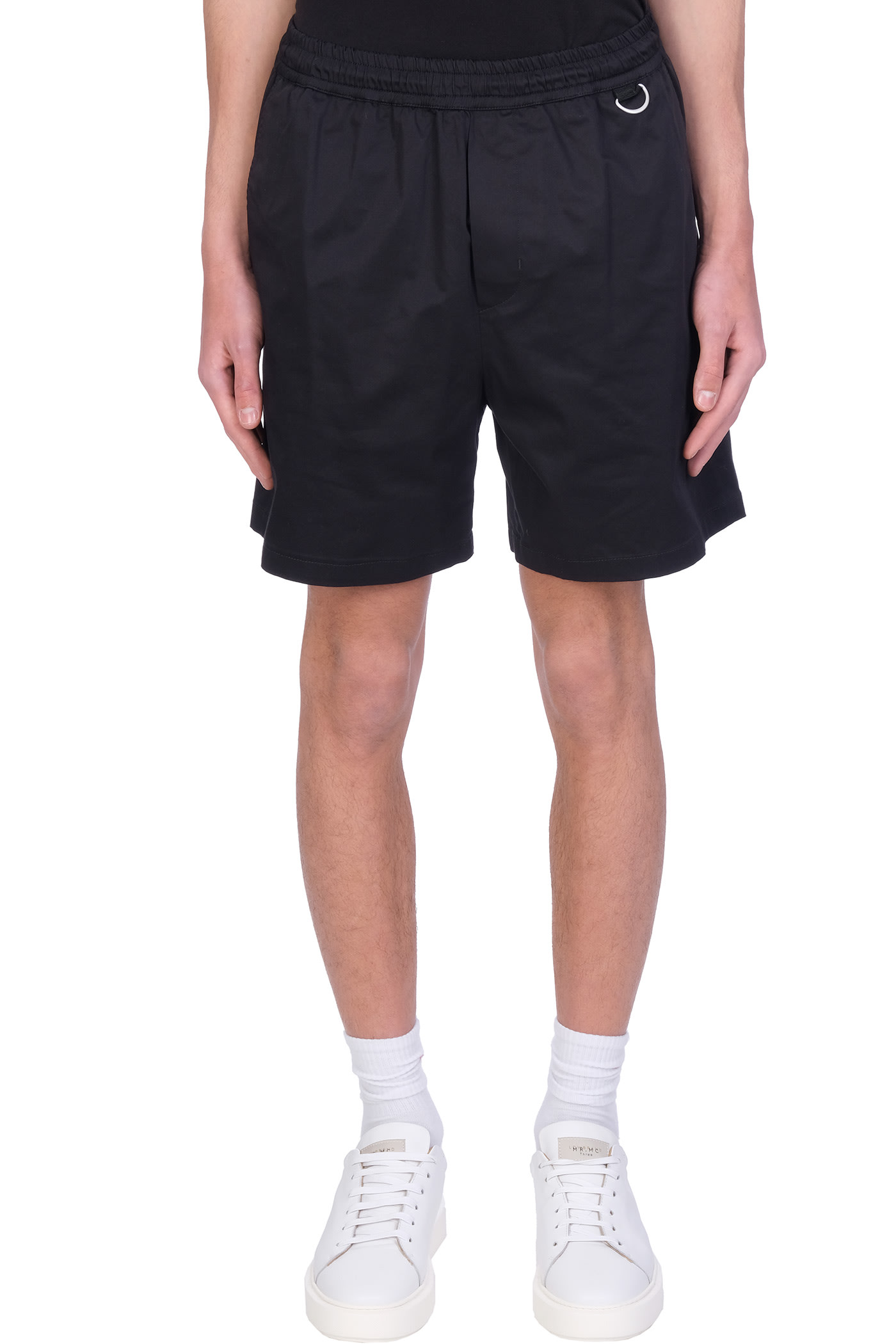 Low Brand Cottons SHORTS IN BLACK COTTON