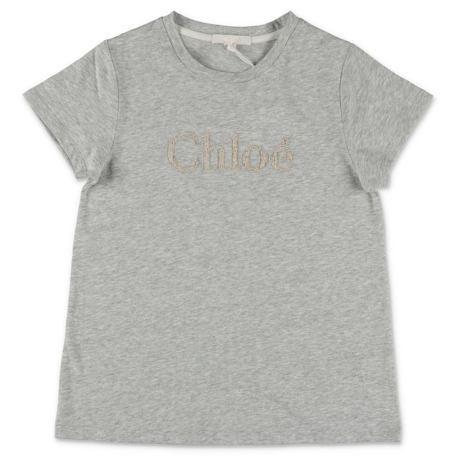 Chloé Kids' T-shirt In Grigio