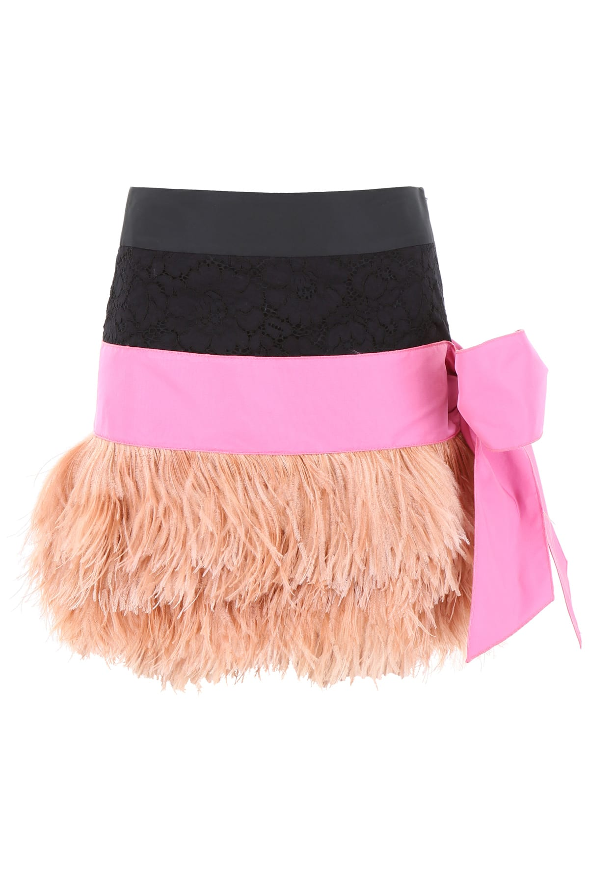 N.21 Mini Skirt With Feathers