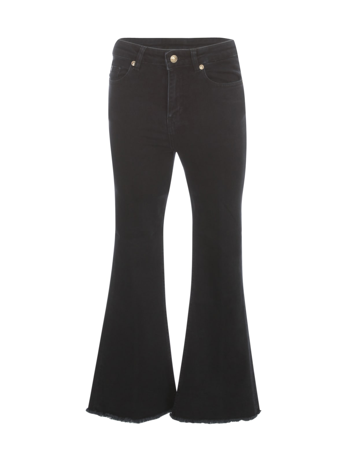 Versace Jeans Couture Denim Jeans W/fringes On Bottom