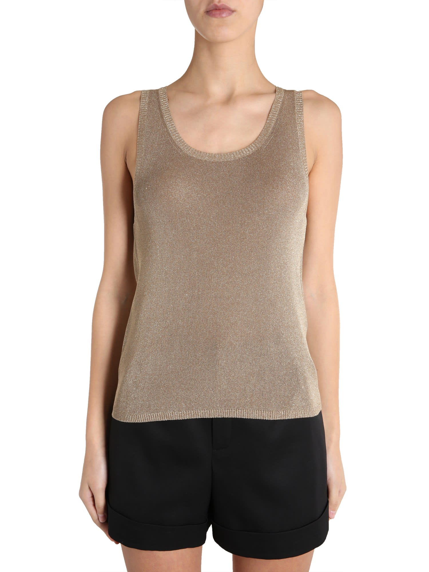 Saint Laurent Round Neck Tank Top