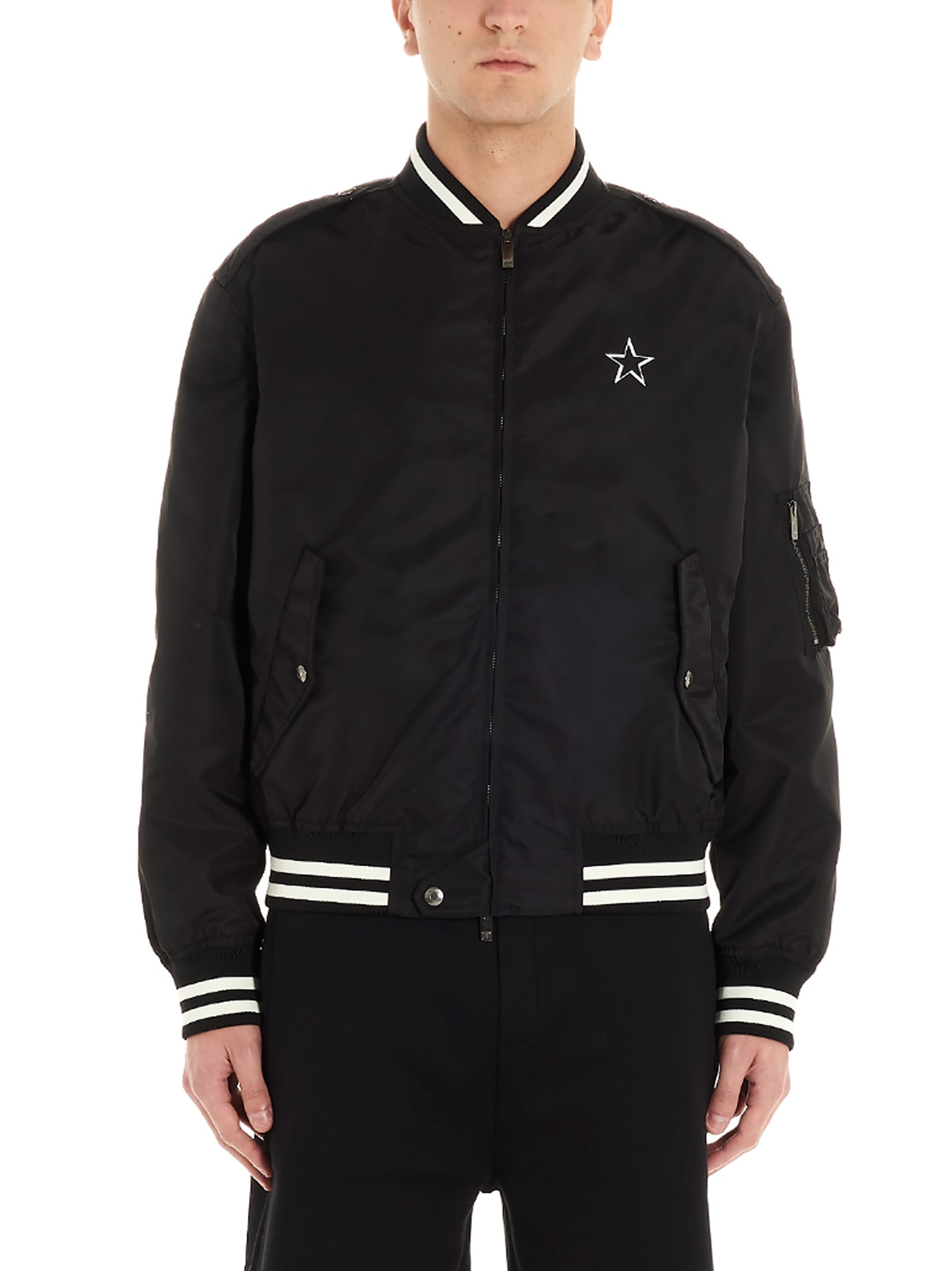 vltn Star Jacket From Valentino: Nylon vltn Star Bomber JacketComposition: 100% nylon