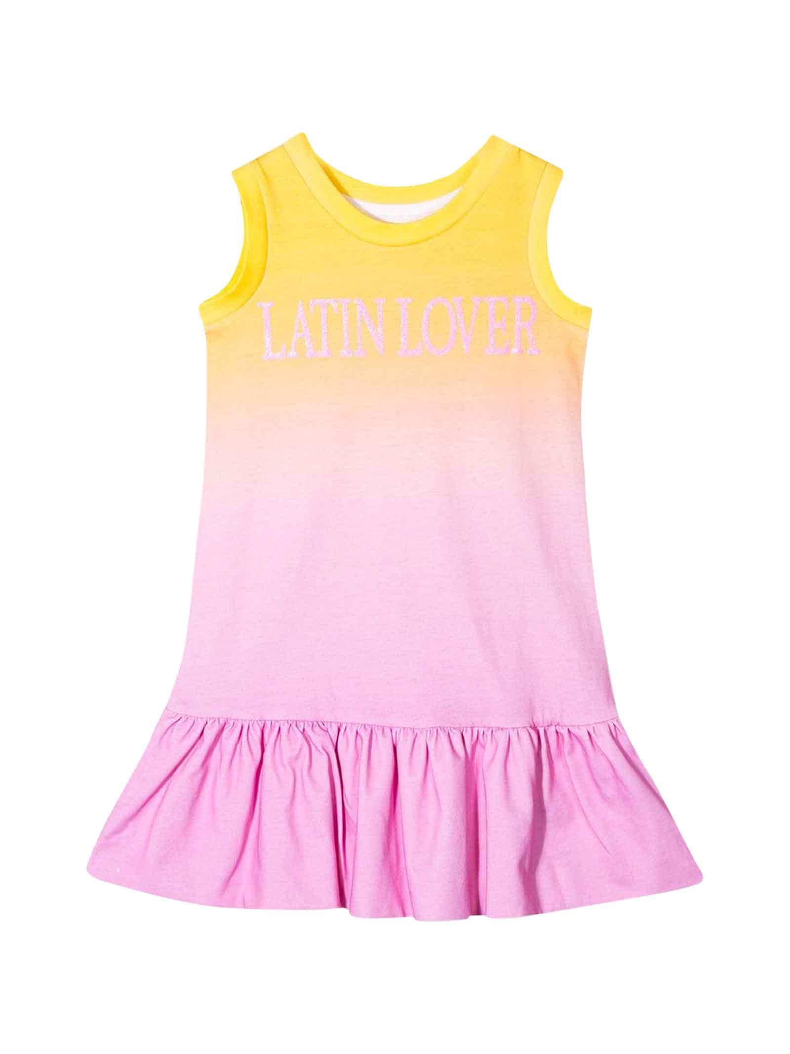 Buy Alberta Ferretti Sleeveless Multicolor Dress online, shop Alberta Ferretti with free shipping