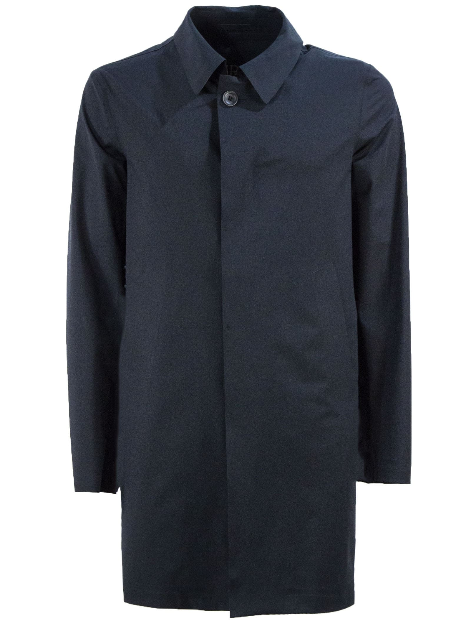 Herno Single-breasted Black Coat