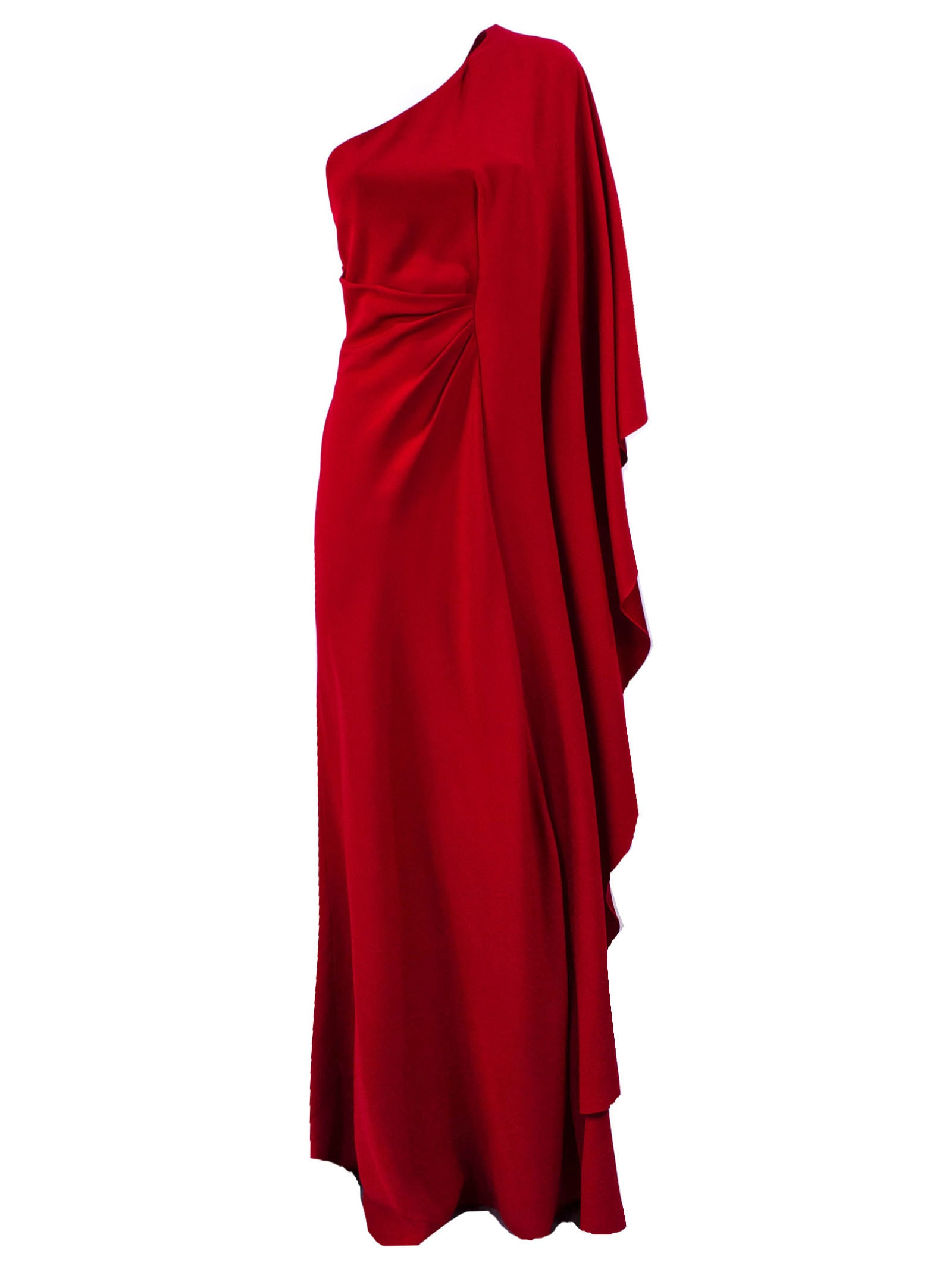 Alberta Ferretti Red Asymmetric Dress