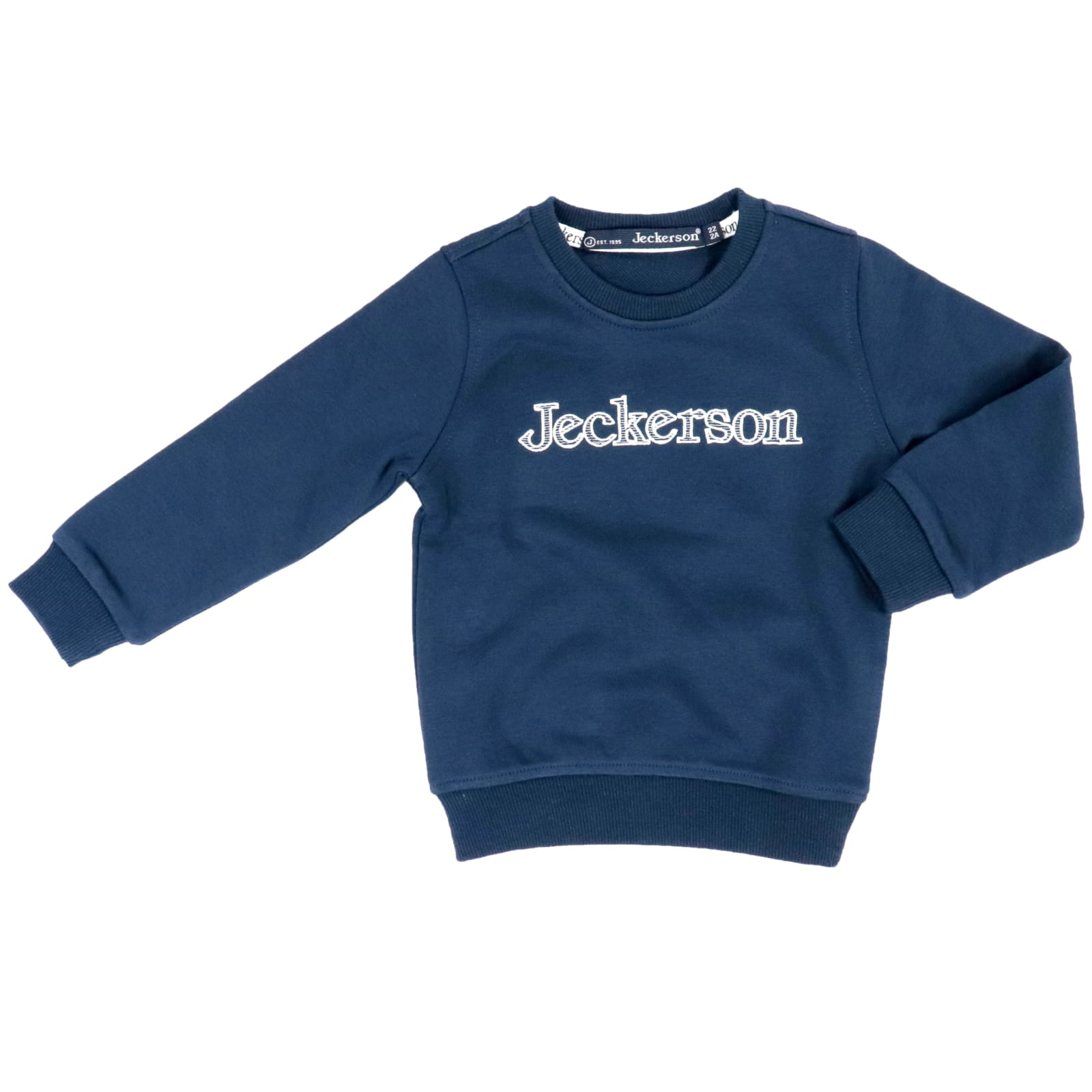 Jeckerson Kids' Cotton Sweatshirt In Blue / Cream