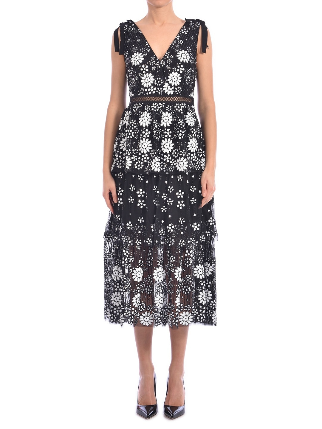 Buy self-portrait Floral Dress With Sequins online, shop self-portrait with free shipping