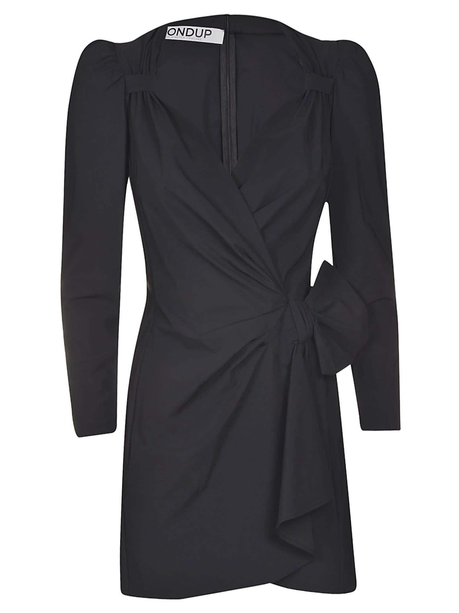 Buy Dondup V-neck Slim Gathered Dress online, shop Dondup with free shipping