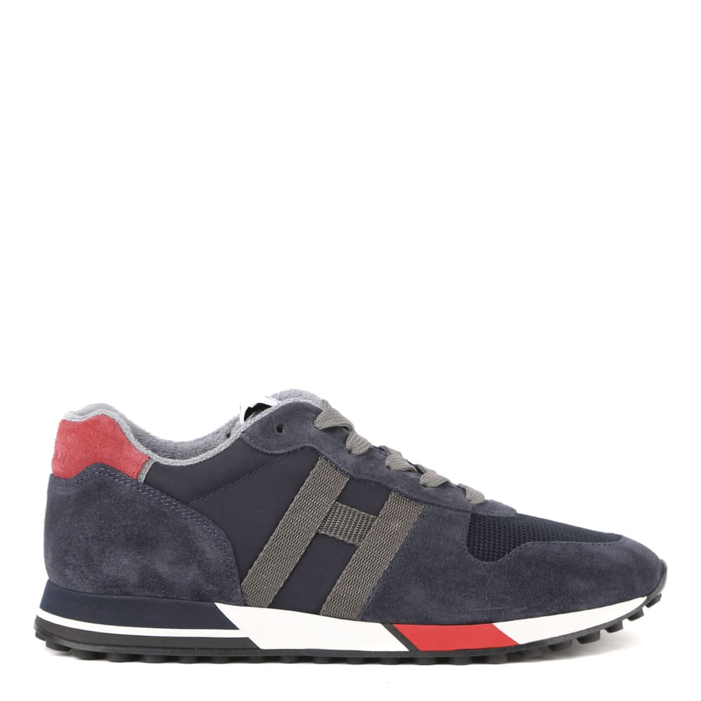 Hogan H383 Sneakers In Suede And Fabric