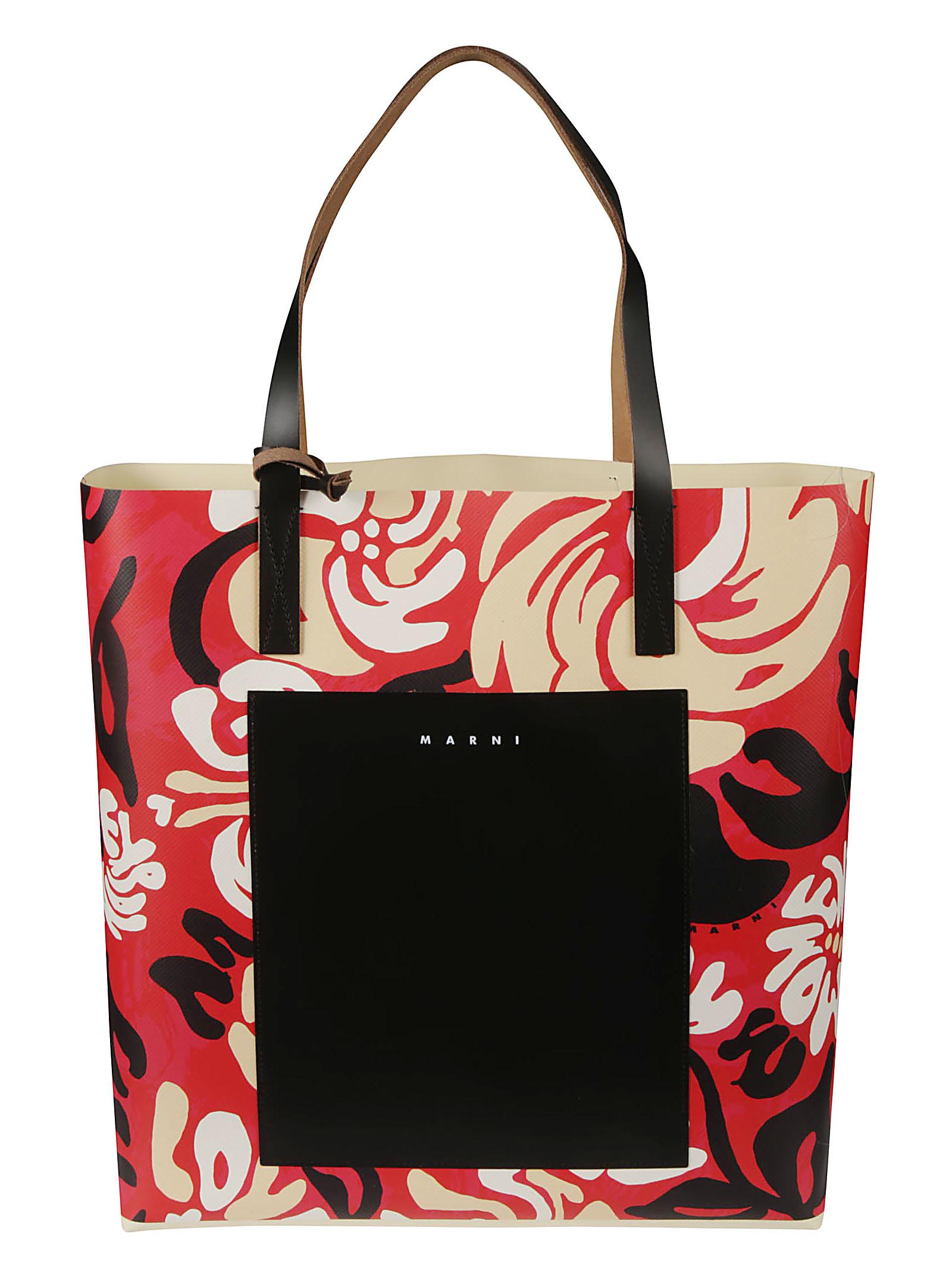Marni Pvcs ALL-OVER PRINTED SHOPPER BAG