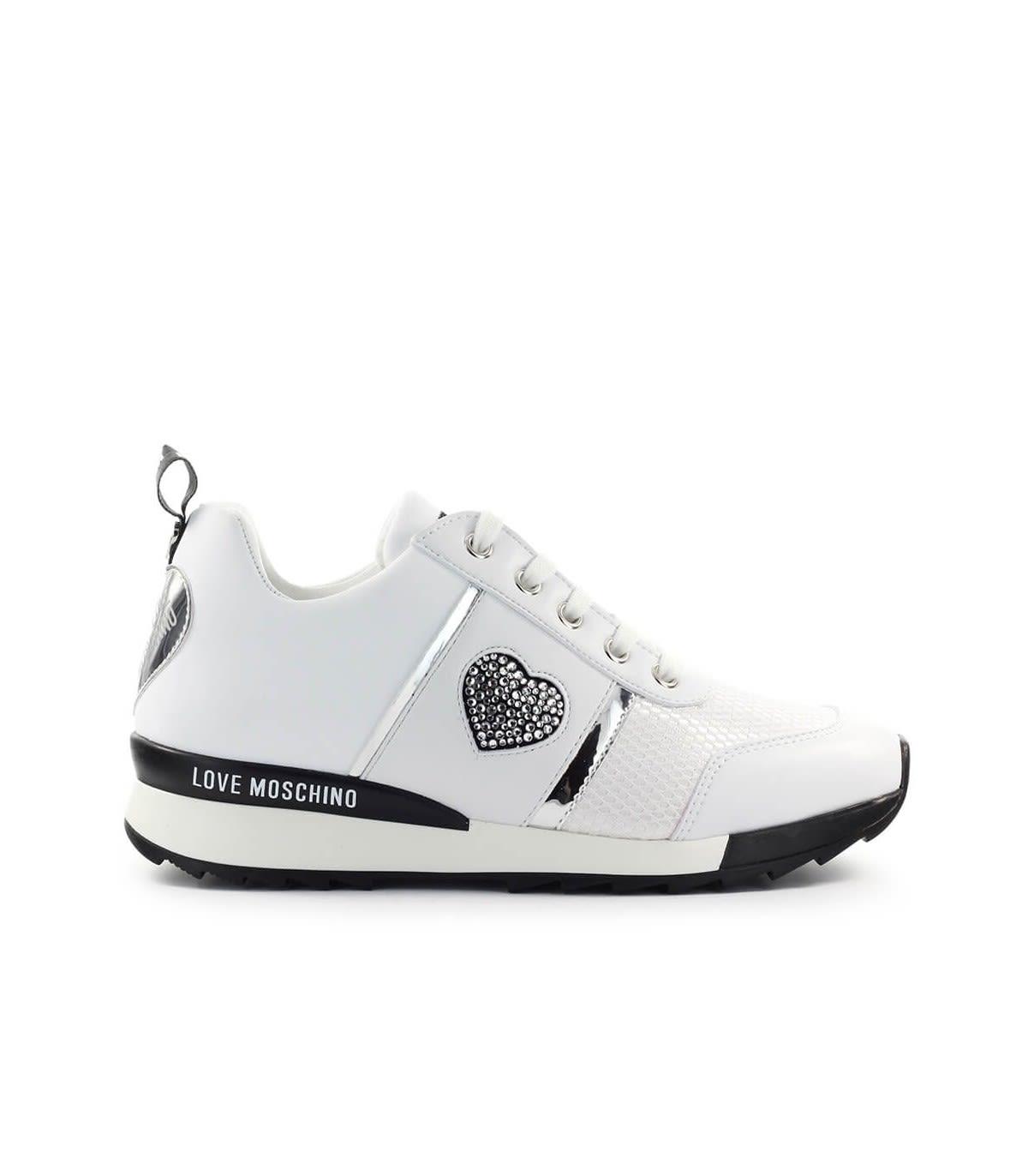 Love Moschino White Heart Sneaker