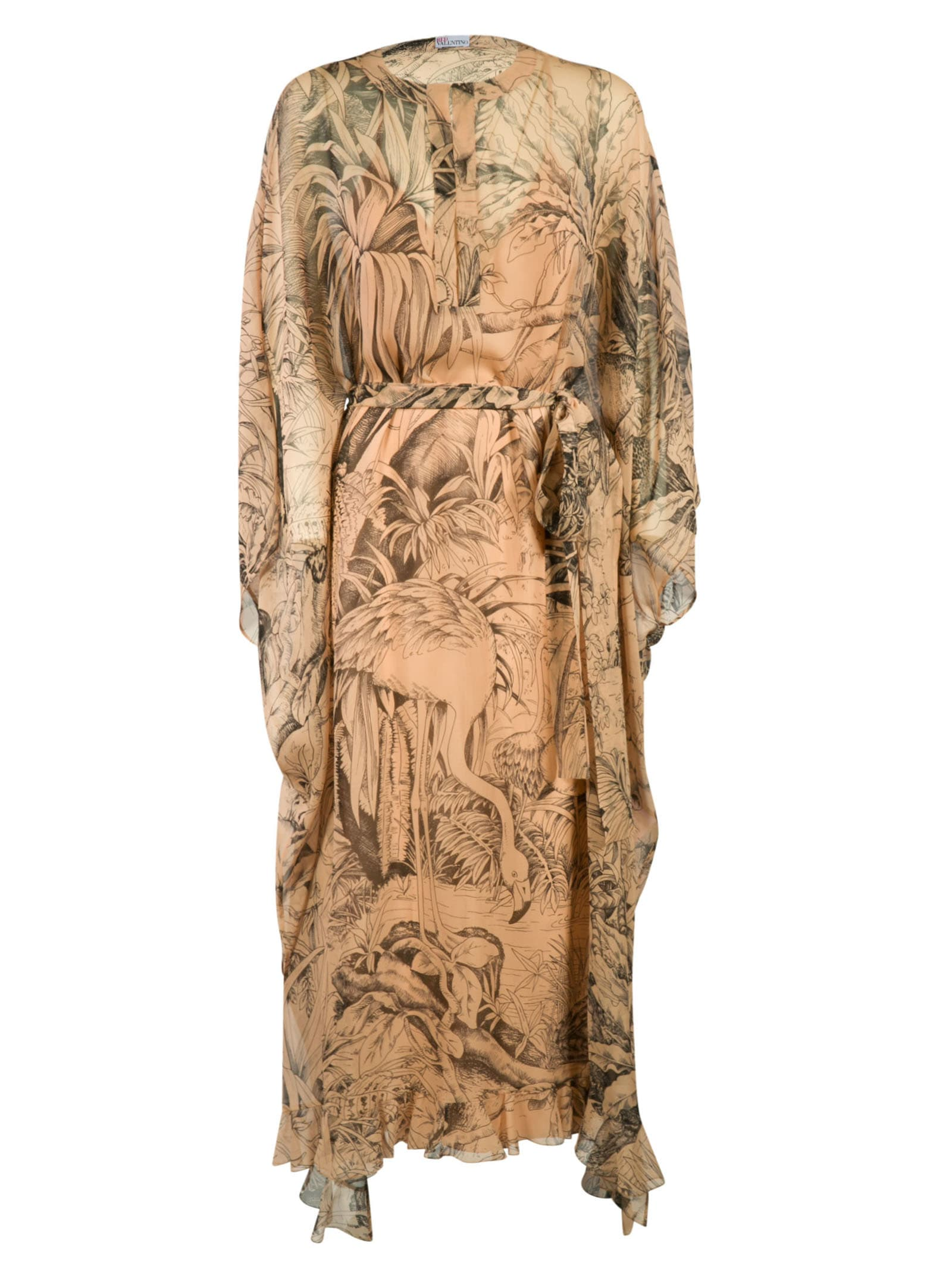 RED Valentino Wide Fit Printed Long Dress