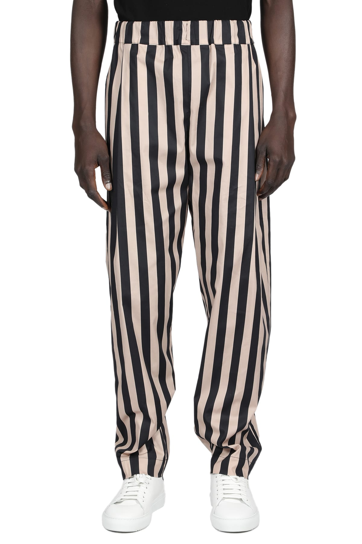 Laneus Straight pants STRIPED POPELINE PANT