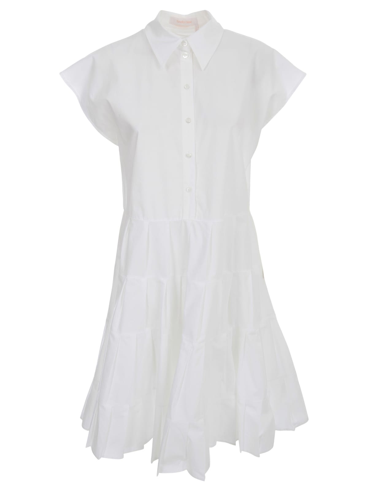 Buy See by Chloé Dress S/s Shirt Collar online, shop See by Chloé with free shipping