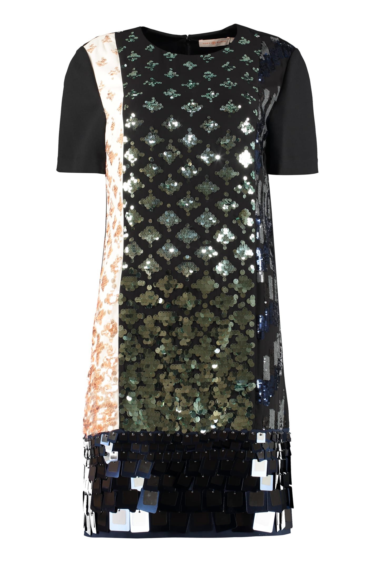 Buy Tory Burch Color-block Sequin Dress online, shop Tory Burch with free shipping