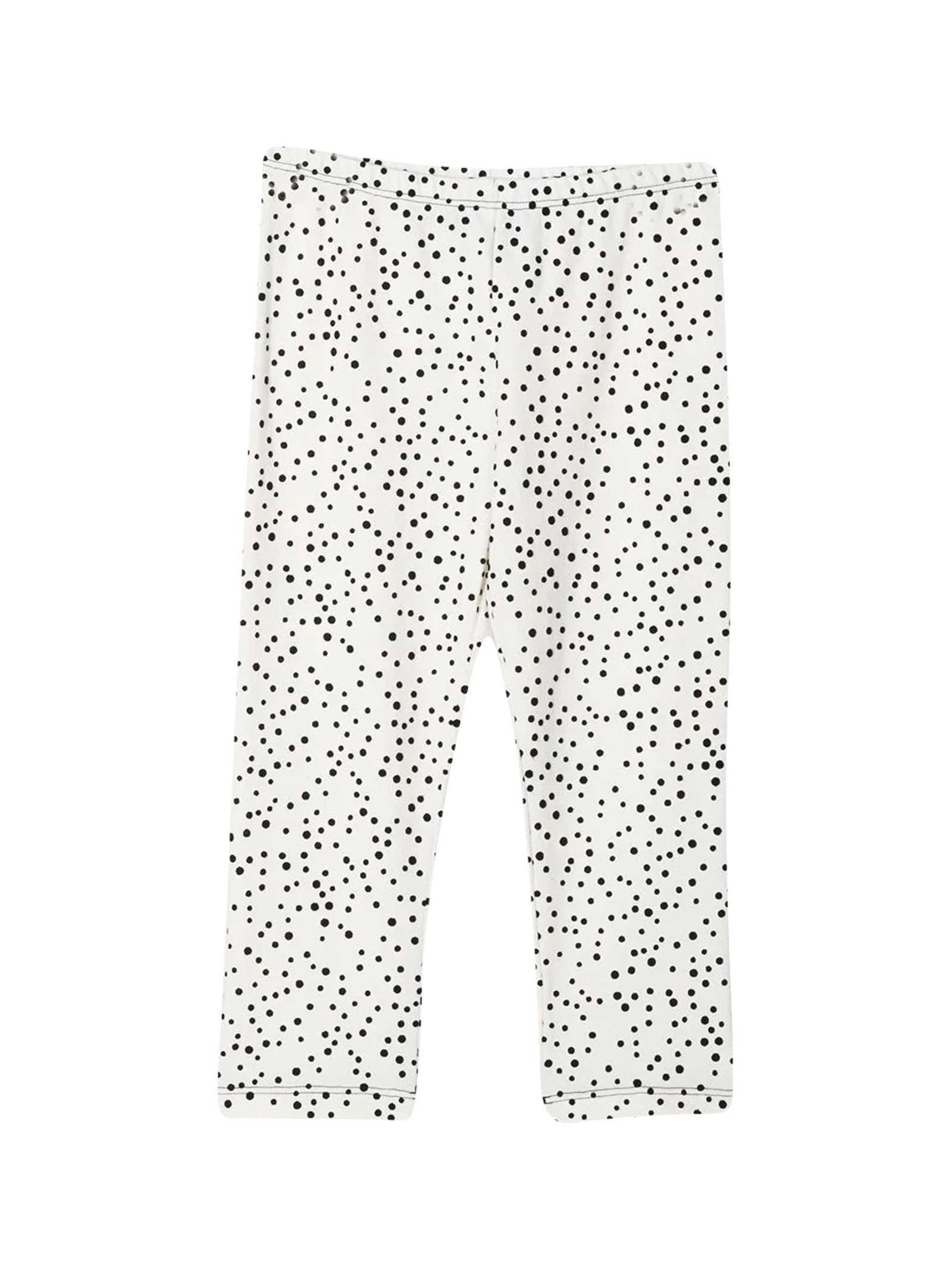 White Leggings With Black Polka Dots Mi Mi Sol Kids
