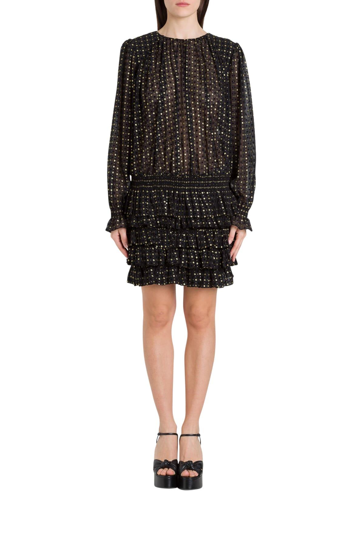 Buy Saint Laurent Plumetis Short Dress online, shop Saint Laurent with free shipping