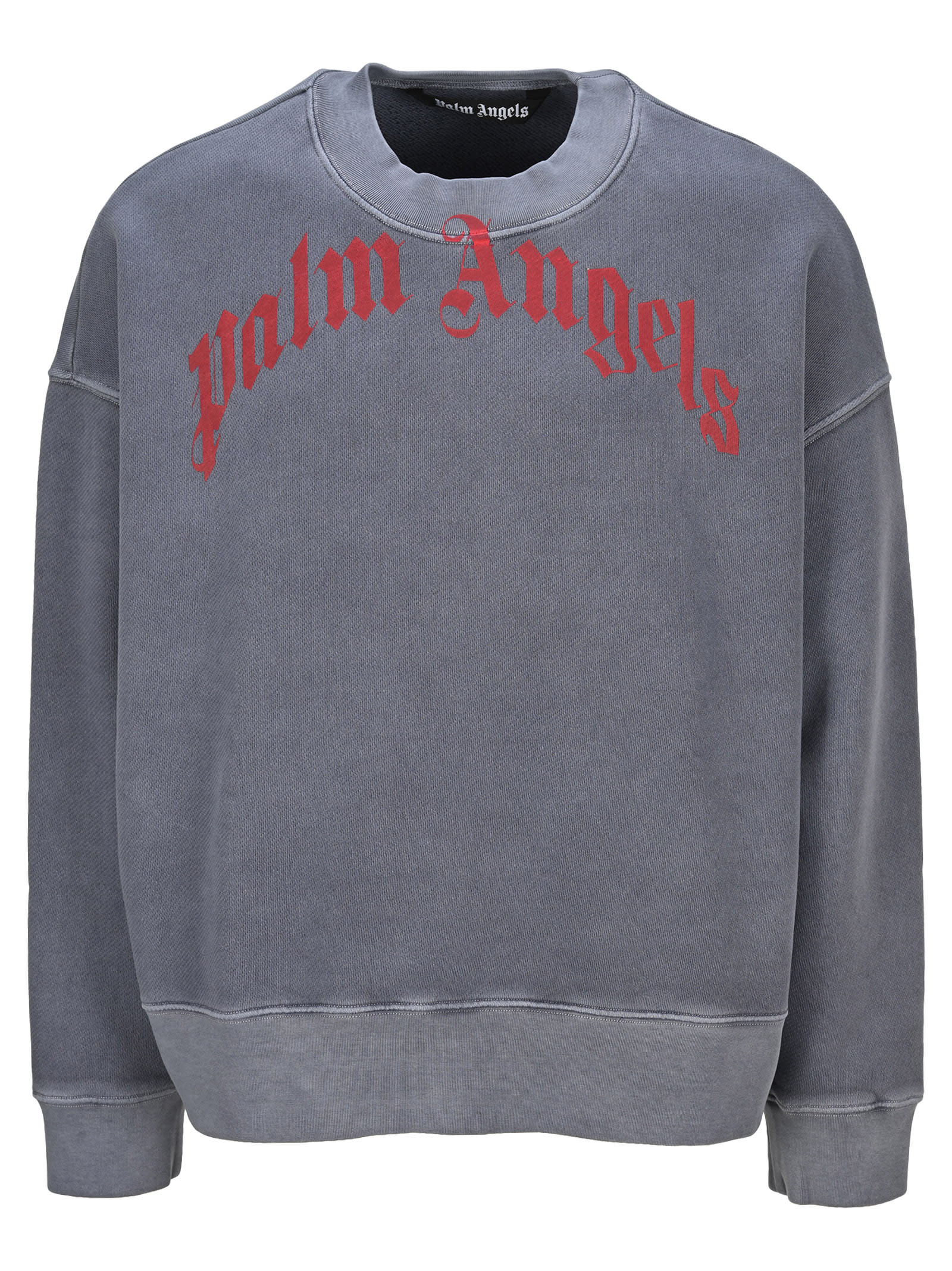Palm Angels CURVED LOGO CRERWNECK SWEATSHIRT