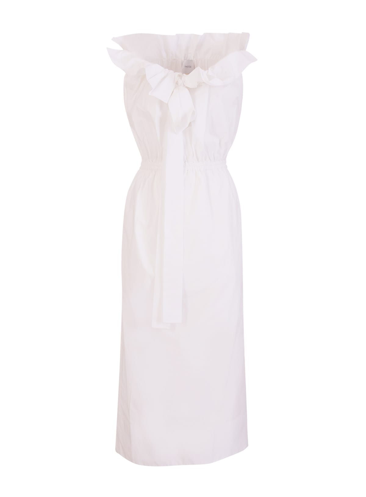 Buy Patou Embroidered Grosgrain Dress In Organic Cotton Poplin online, shop Patou with free shipping