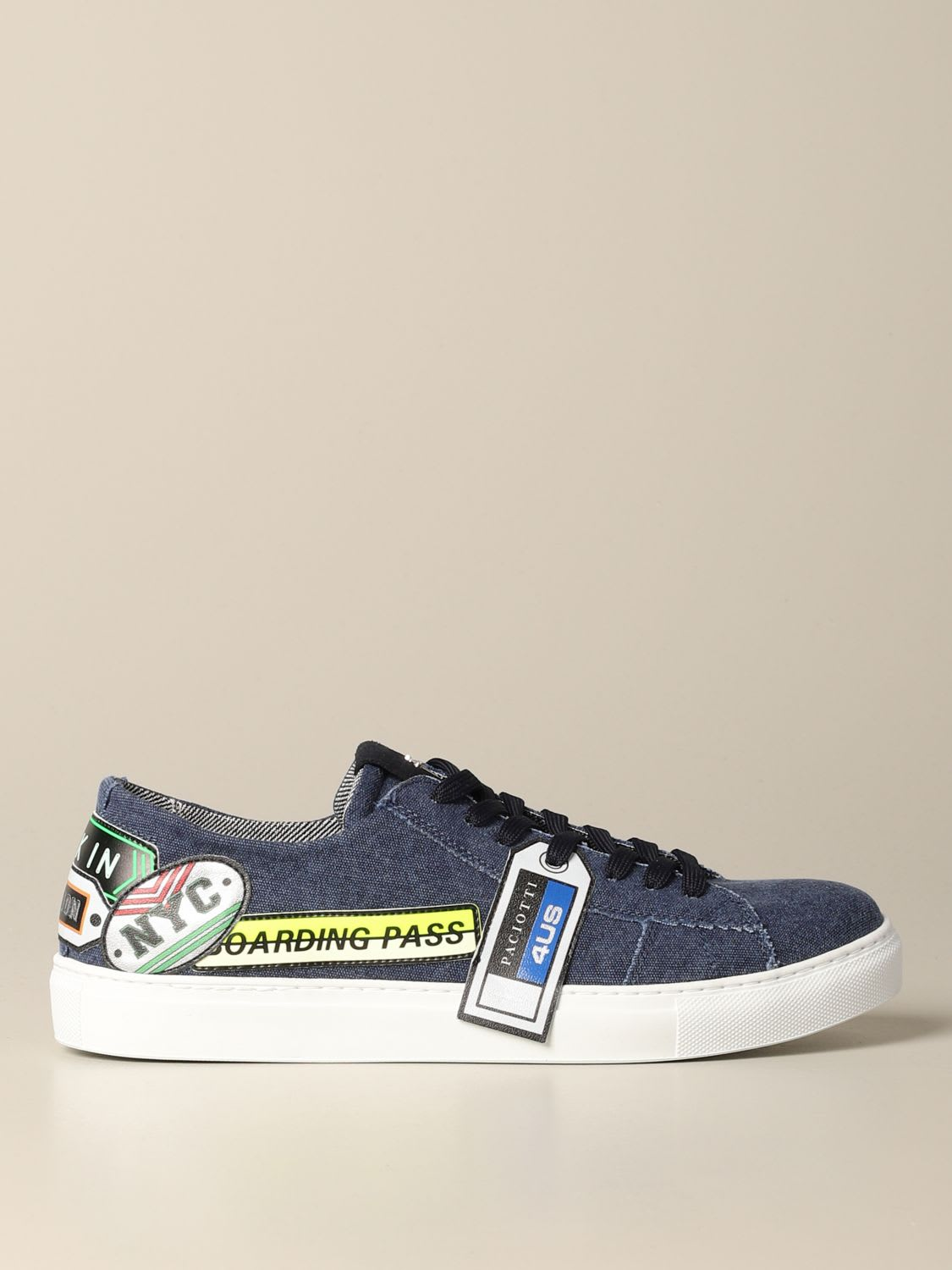 Paciotti 4us Sneakers Ramones Paciotti 4us Denim Sneakers With Patch