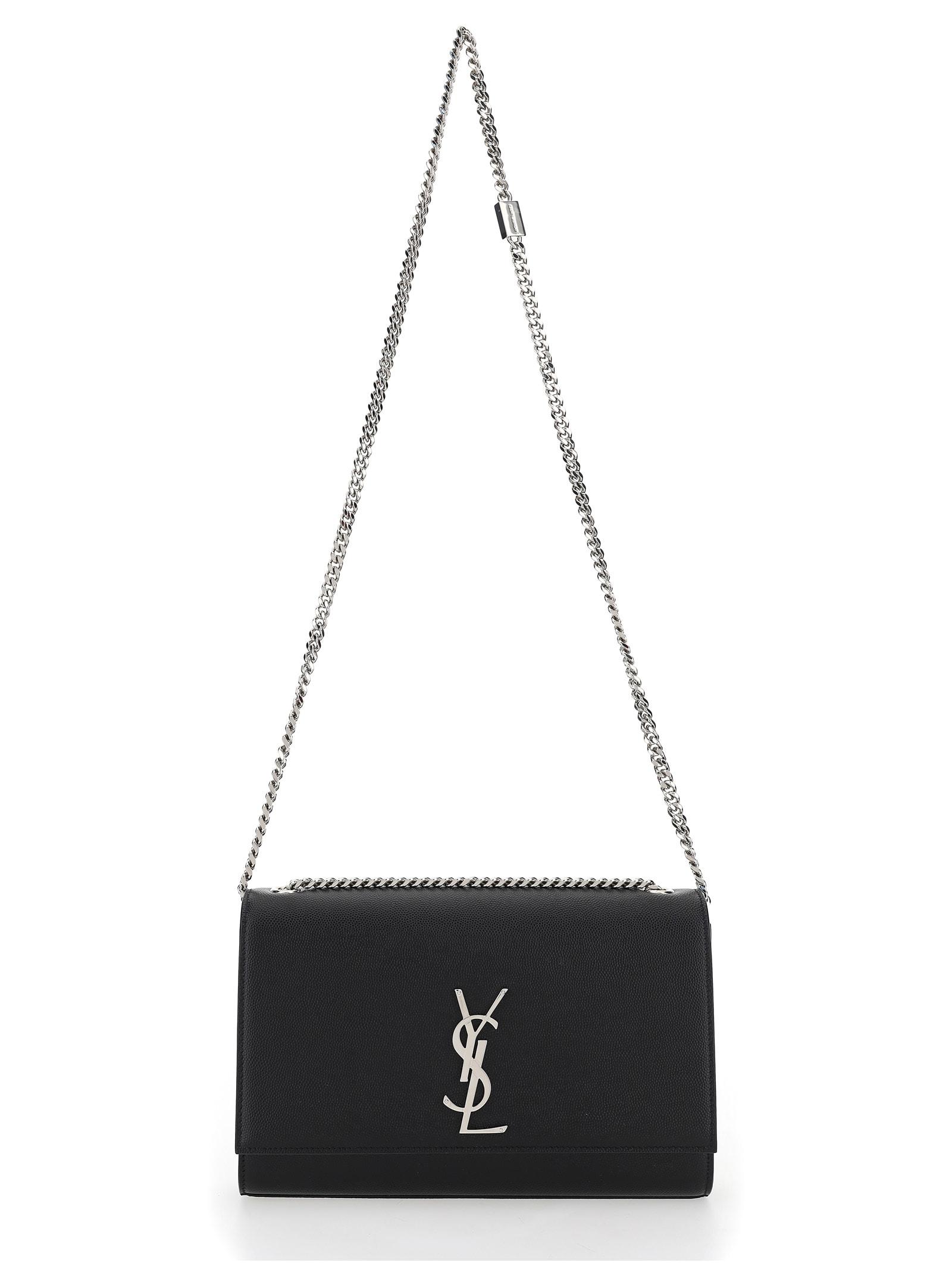 Saint Laurent Kate Medium Shoulder Bag In Nero