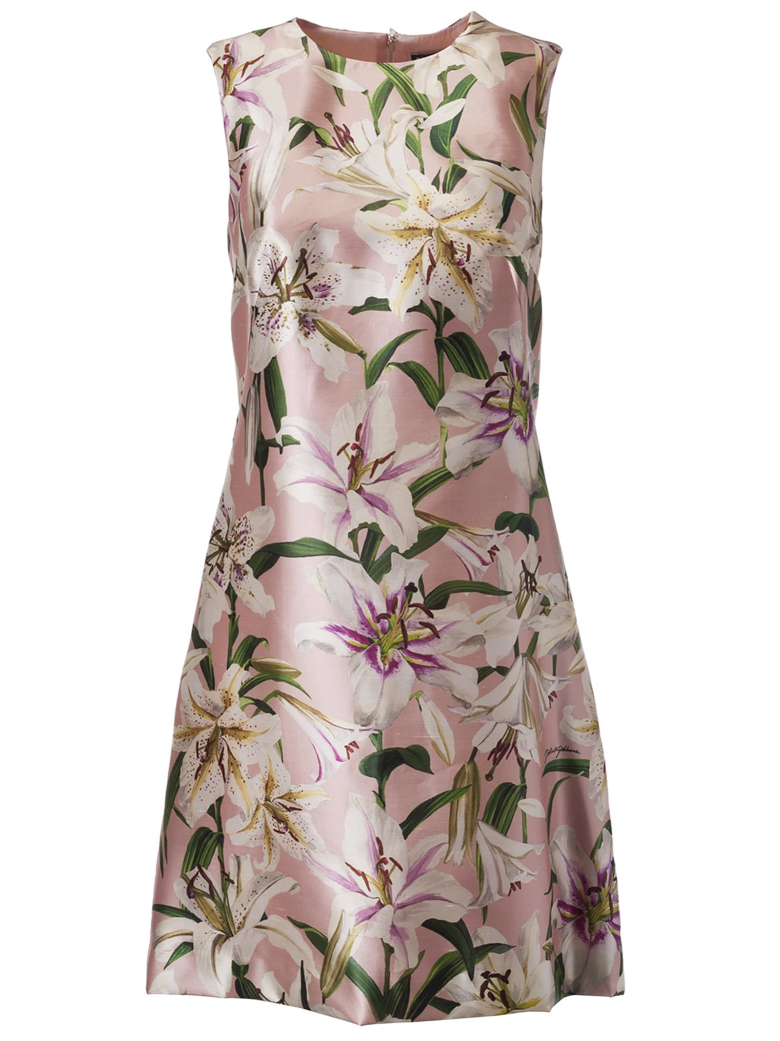Dolce & Gabbana Flower Print Sleeveless Dress