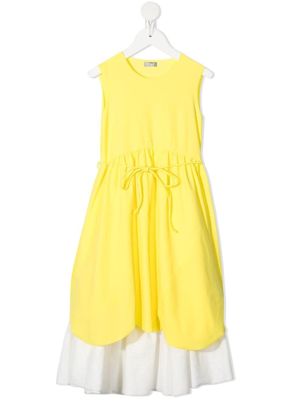 Il Gufo Dresses BICOLOR DRESS WITH DRAWSTRING