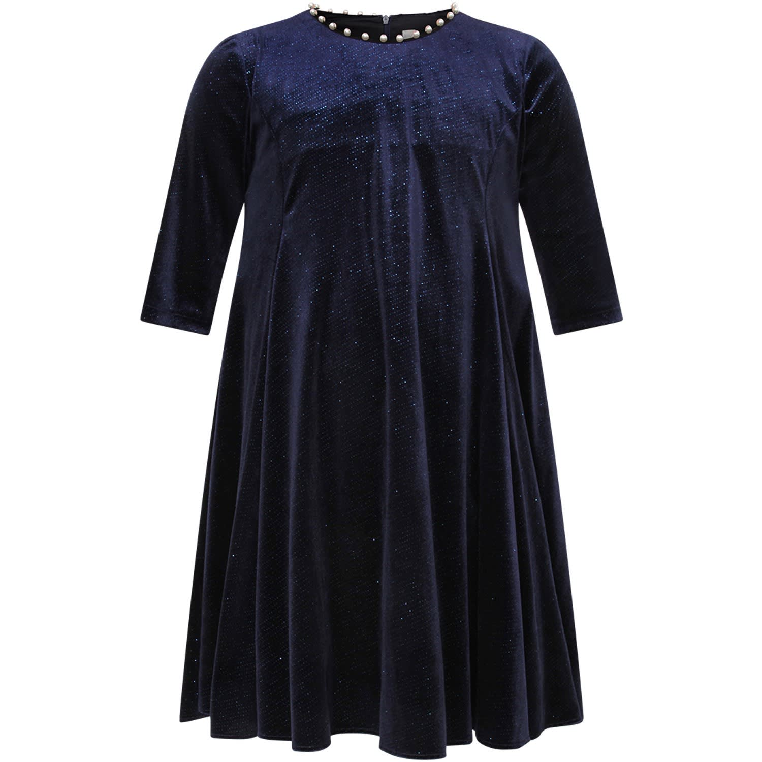 Blue Dress With Pearl For Girl