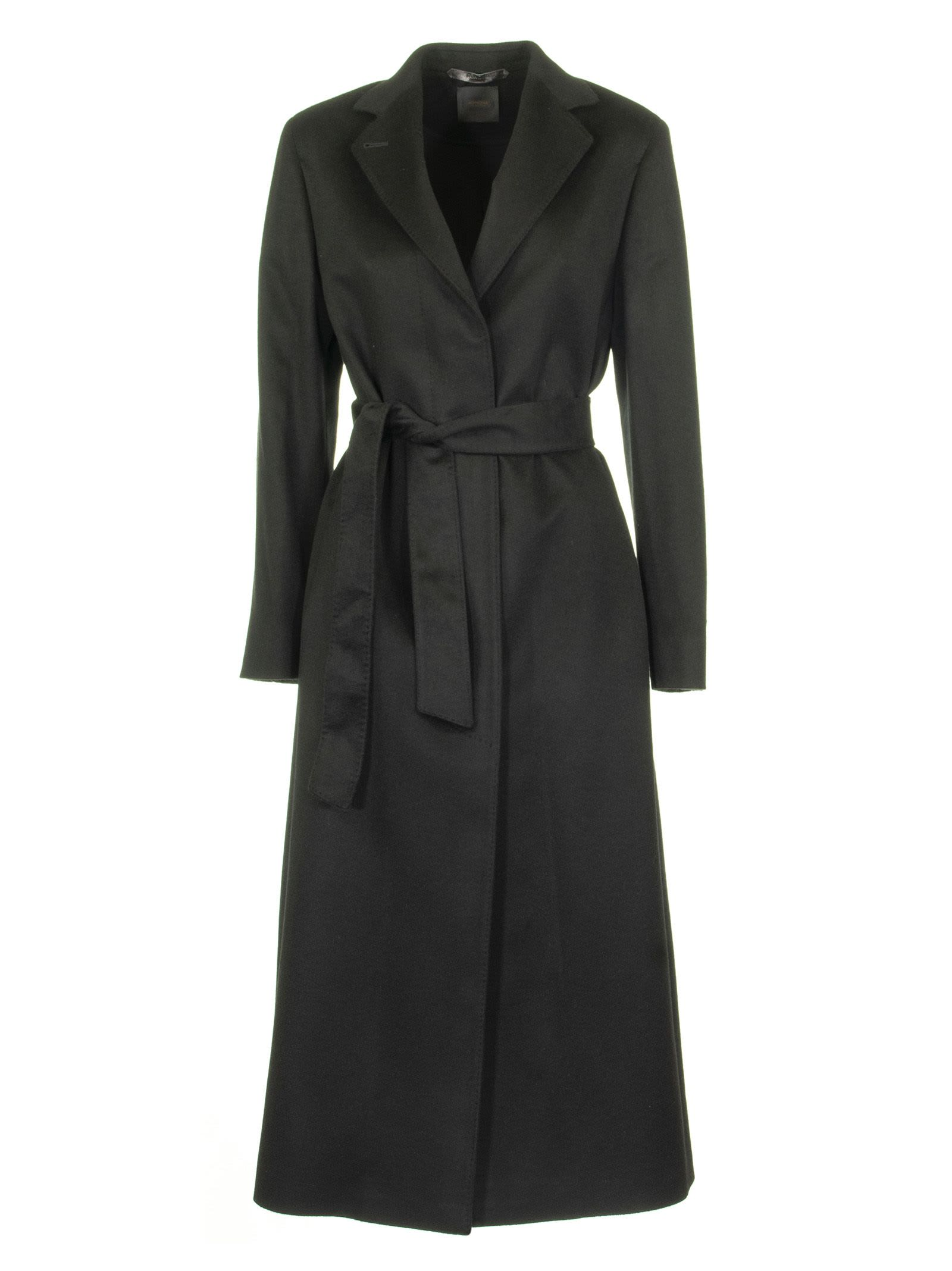 Agnona Cashmere Wrap Coat, Black
