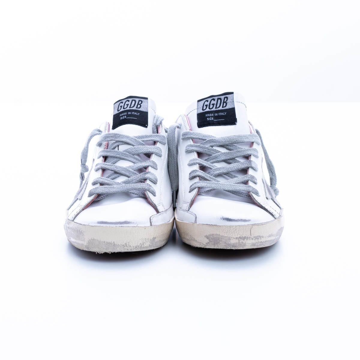 Golden Goose Super-star Leather And Fabric Sneakers In White - Ice - Pink