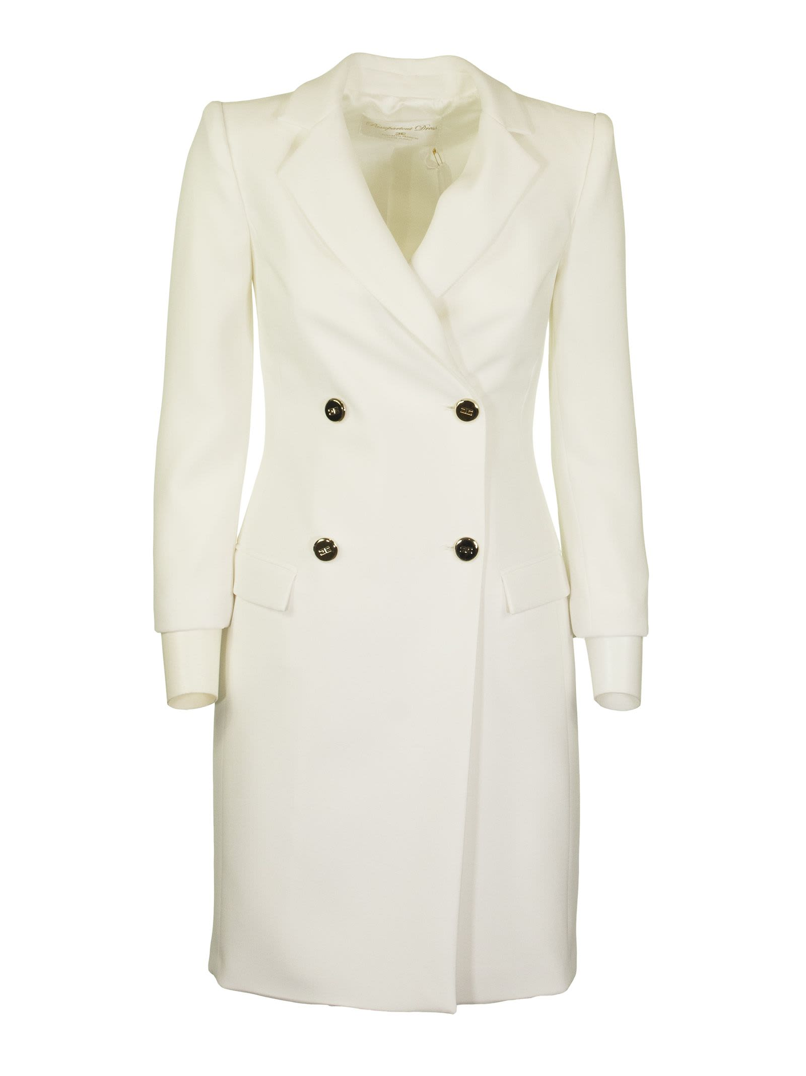 Elisabetta Franchi Celyn B. Ivory Dress