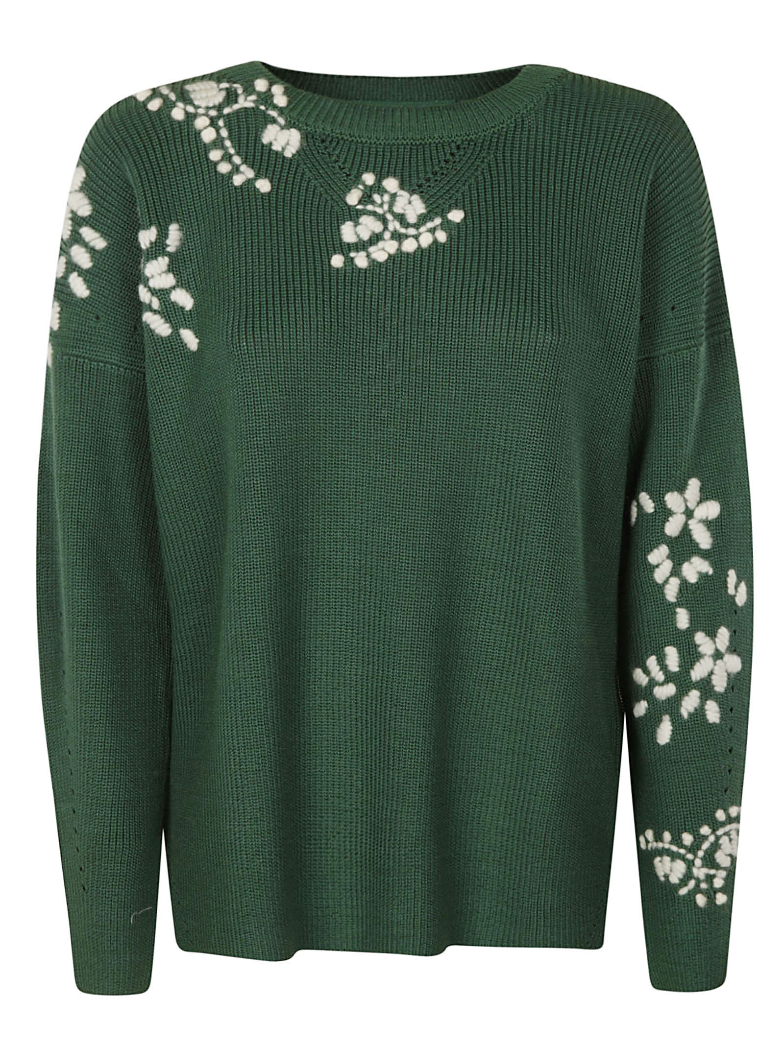 Ermanno Scervino RIBBED KNIT SWEATER