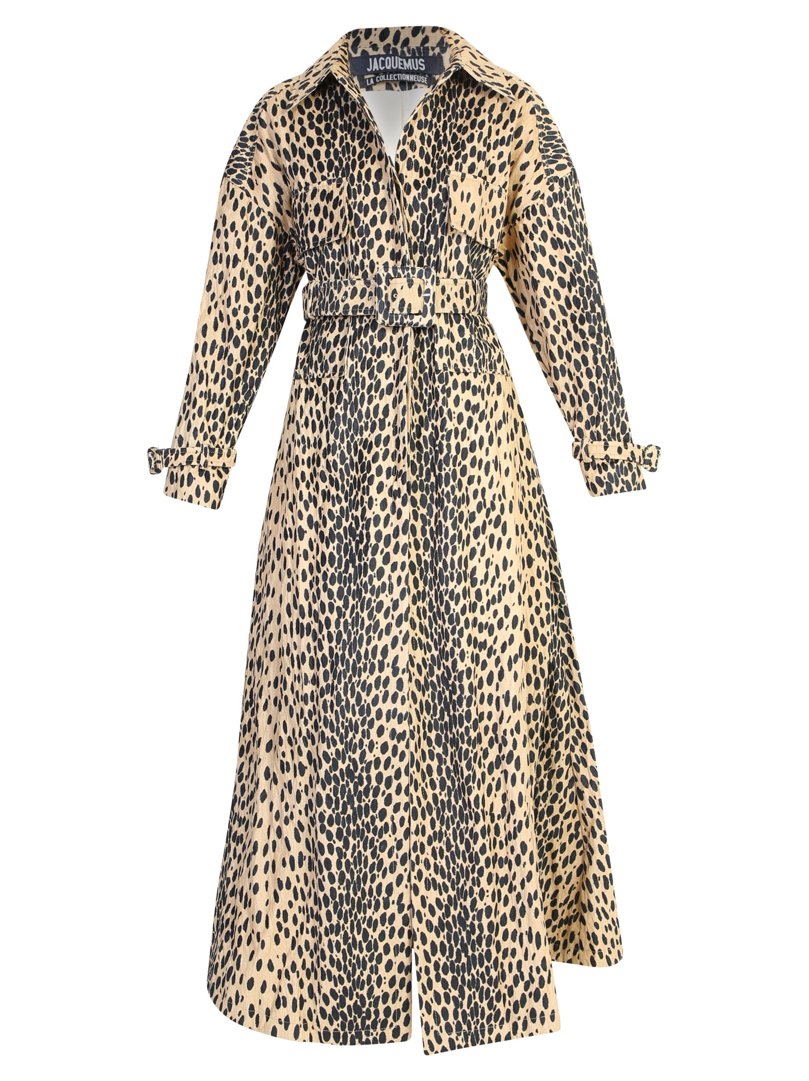 Jacquemus Leopard Print Trench Coat