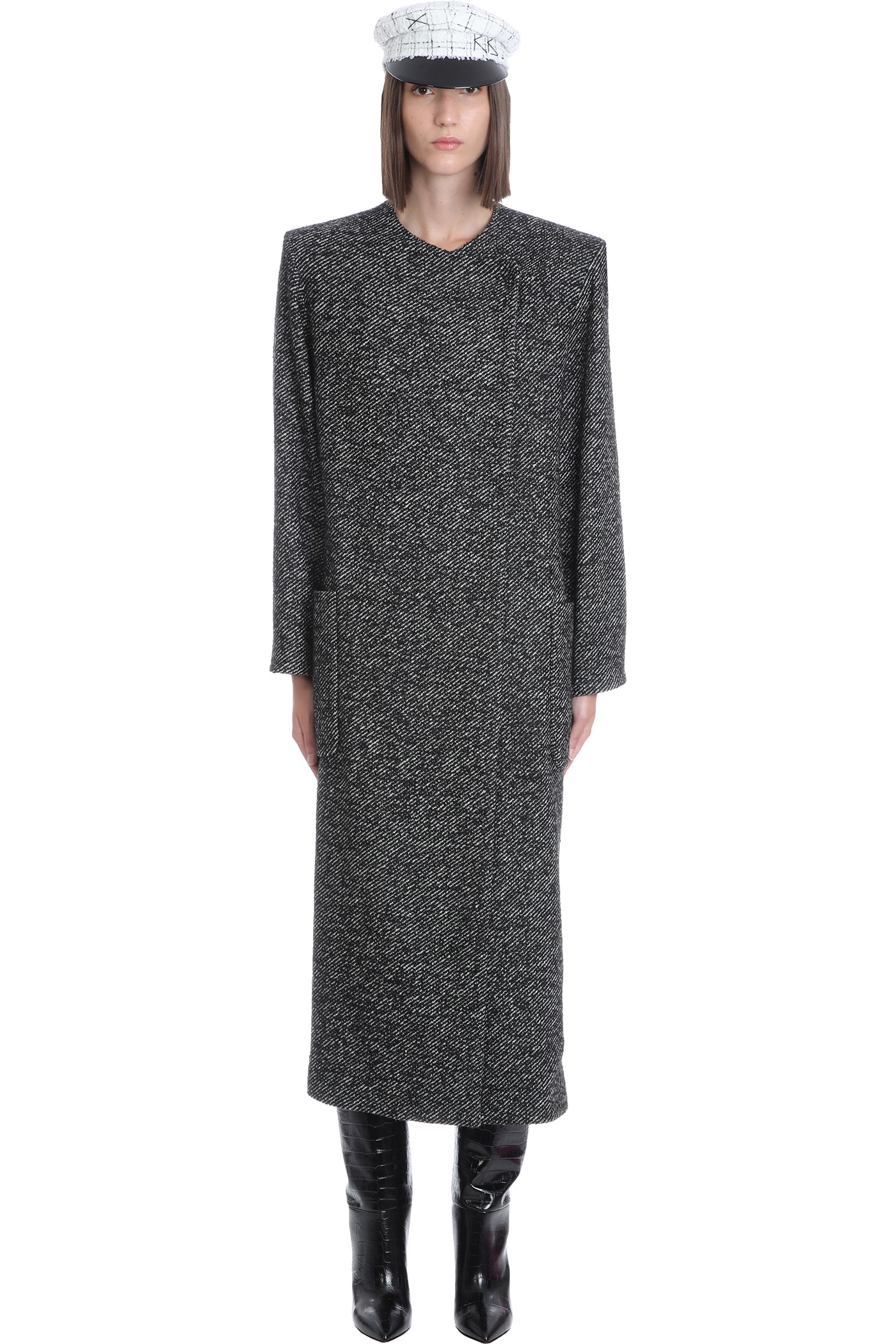 Hailey Coat In Black Wool
