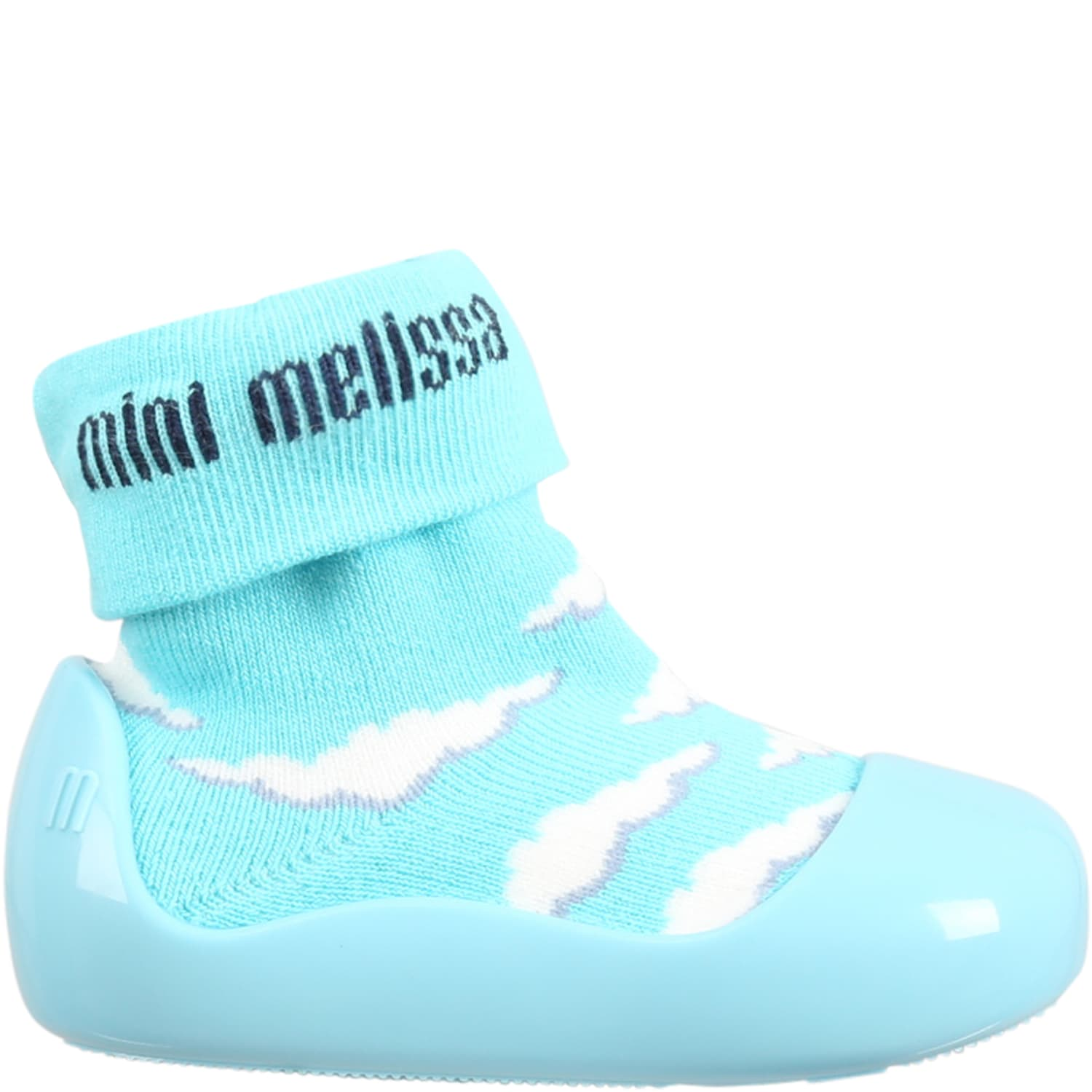 Light Blue Socks For Kids With Clouds
