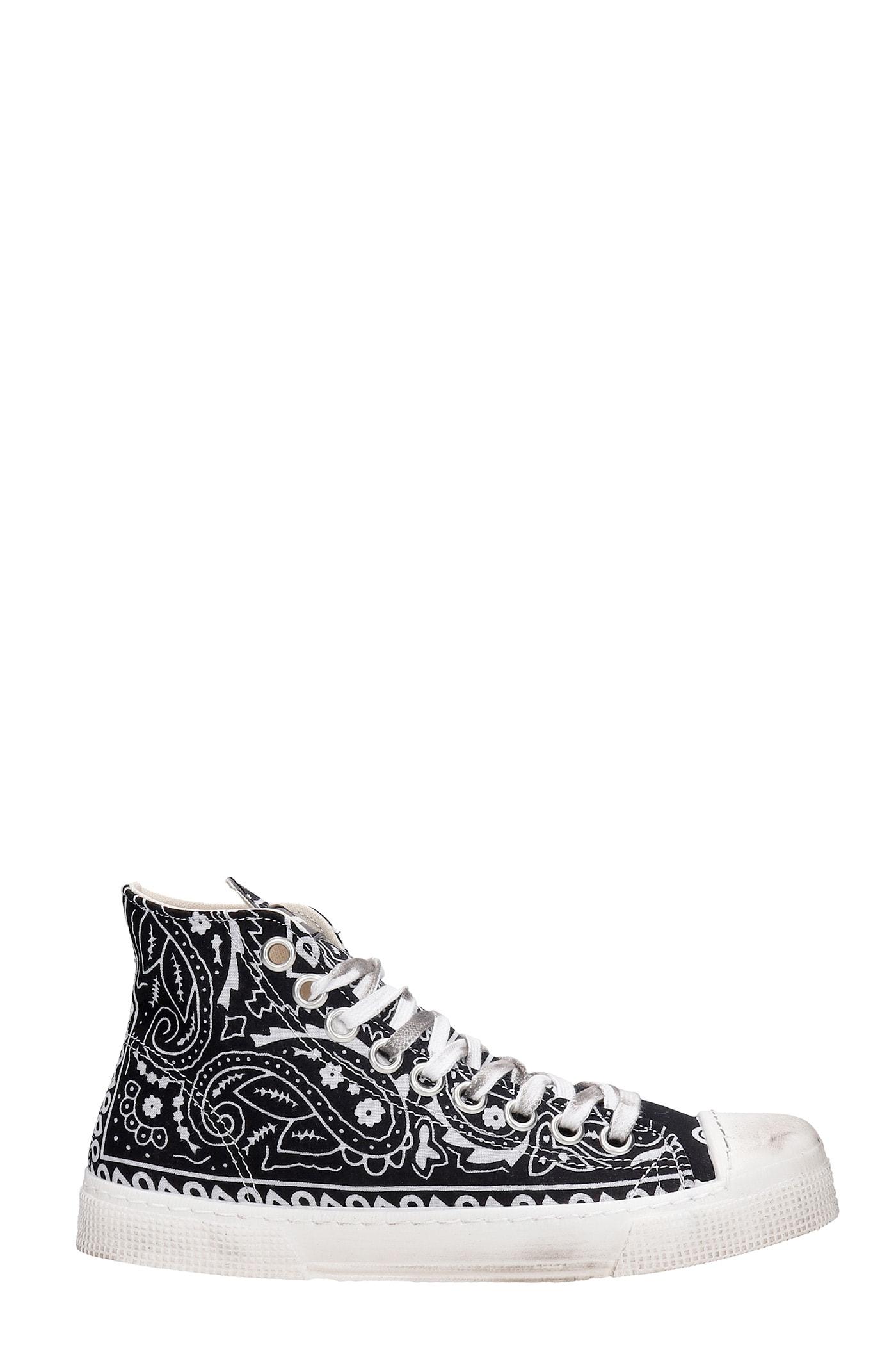 J.m High Sneakers In Black Synthetic Fibers