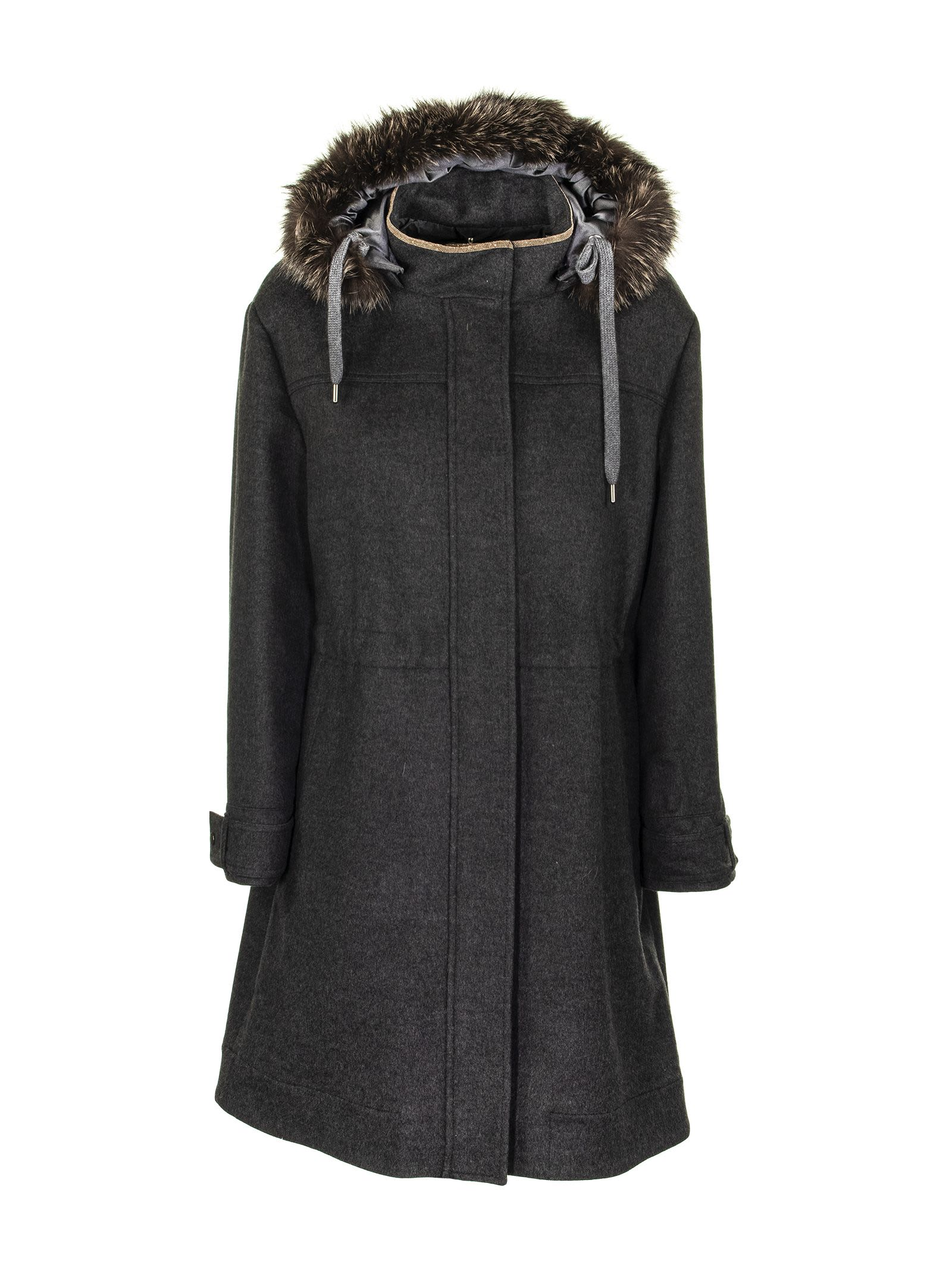 Brunello Cucinelli Outerwear Lignite Coats Fur Fox