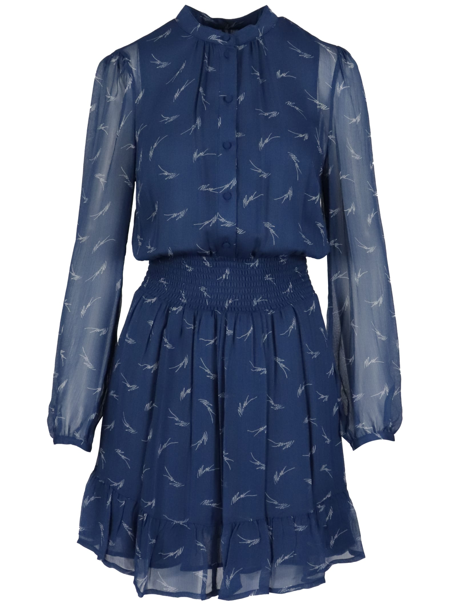 Michael Kors Sig Logo Print Dress