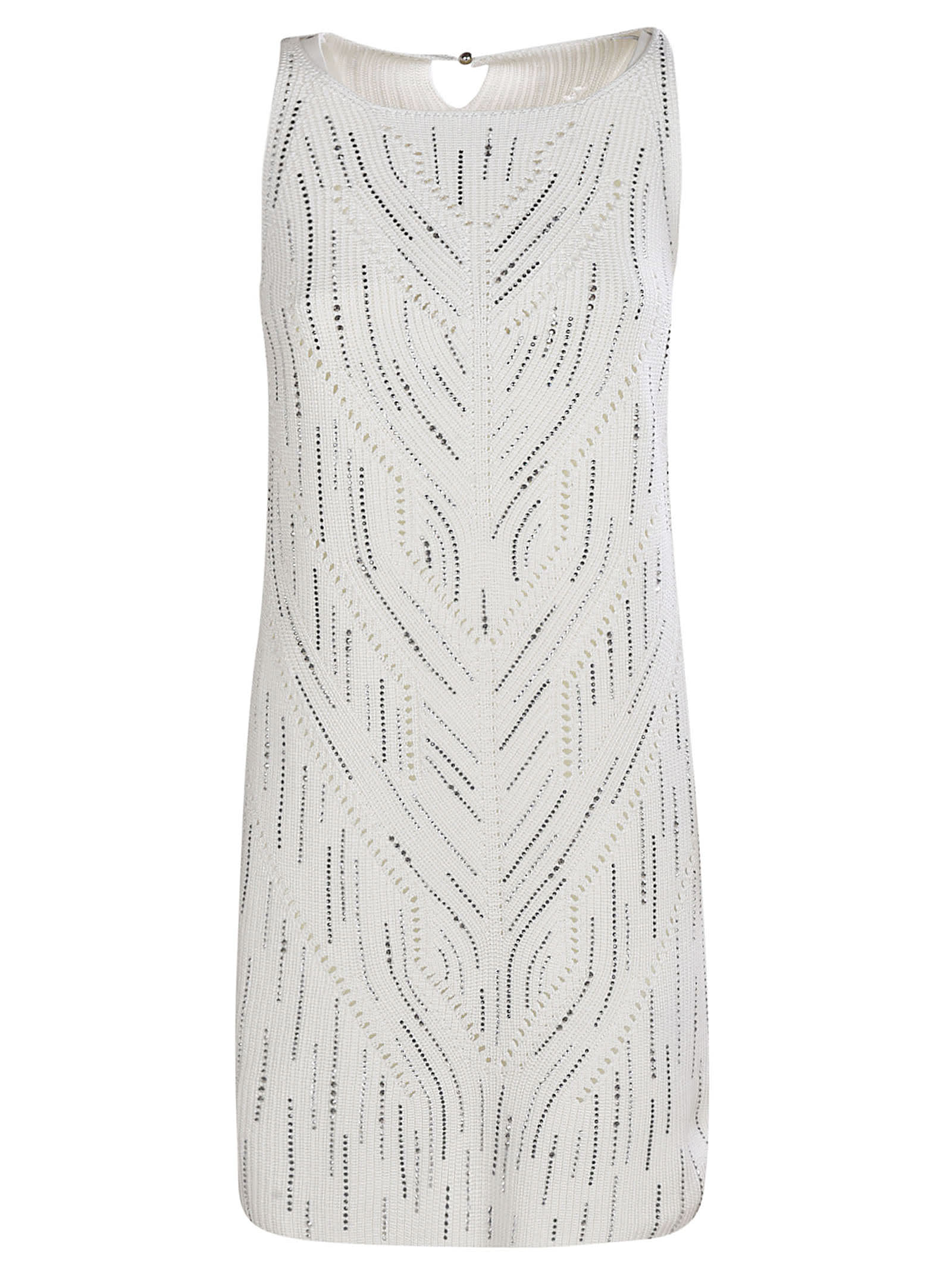 Buy Ermanno Scervino Embellished Sleeveless Dress online, shop Ermanno Scervino with free shipping