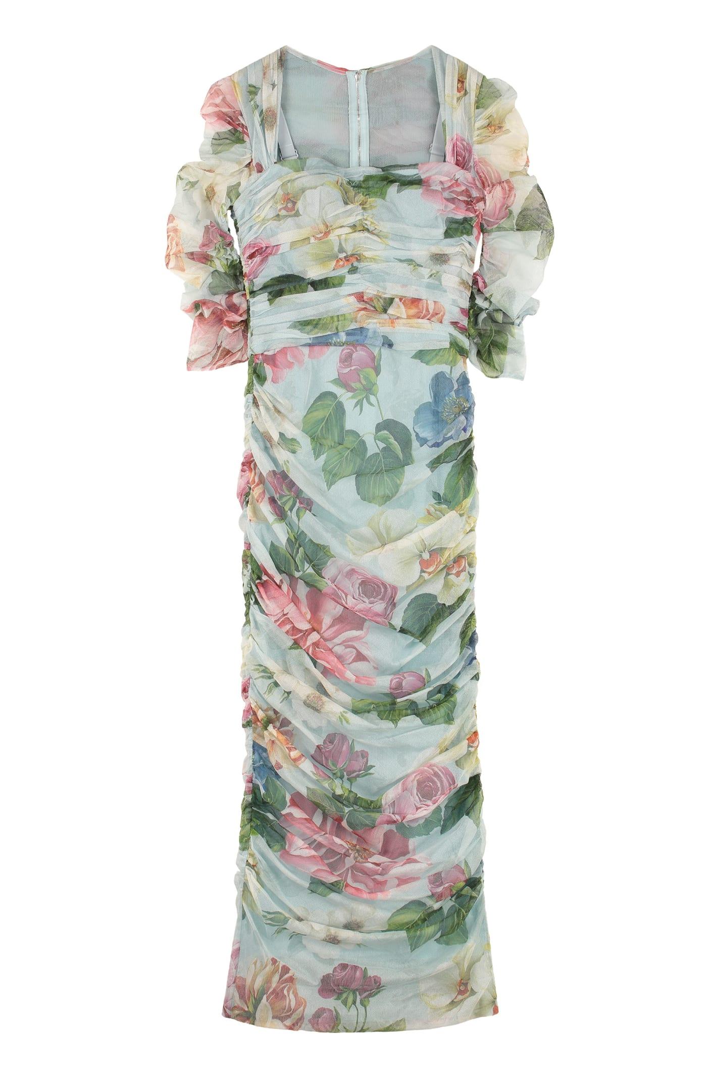Buy Dolce & Gabbana Draped Dress online, shop Dolce & Gabbana with free shipping
