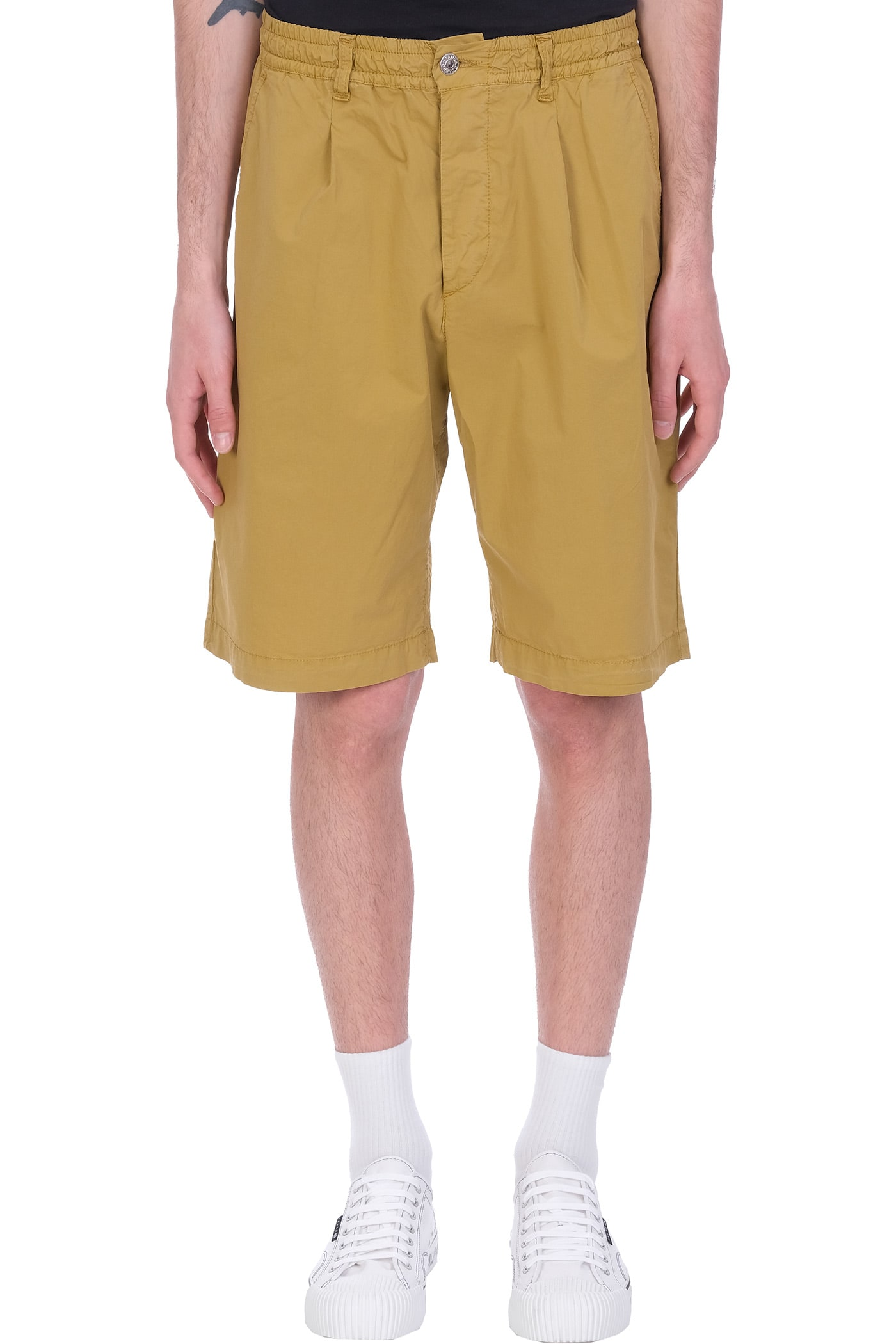 Danilo Paura Harrison Shorts In Beige Cotton