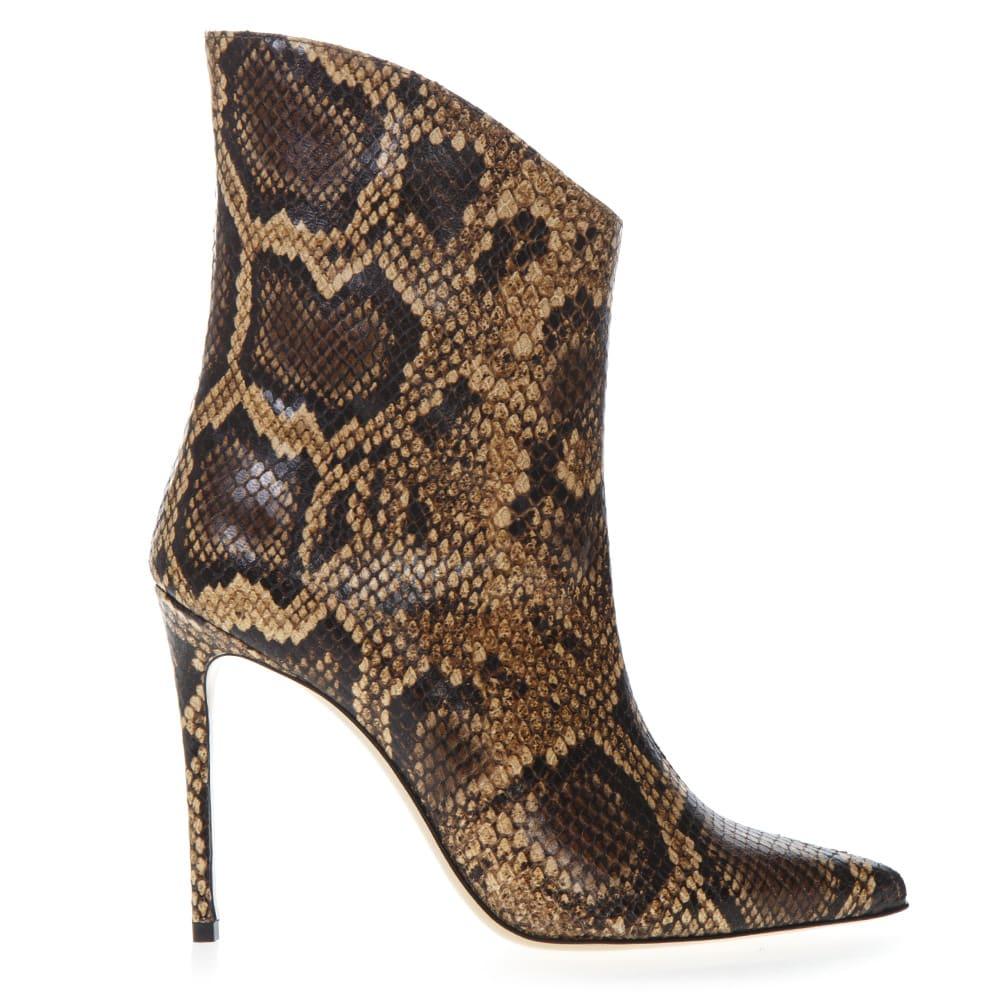 best wholesaler crazy price high fashion Aldo Castagna Aldo Castagna Ankle Boot In Pythoned Brown Leather ...
