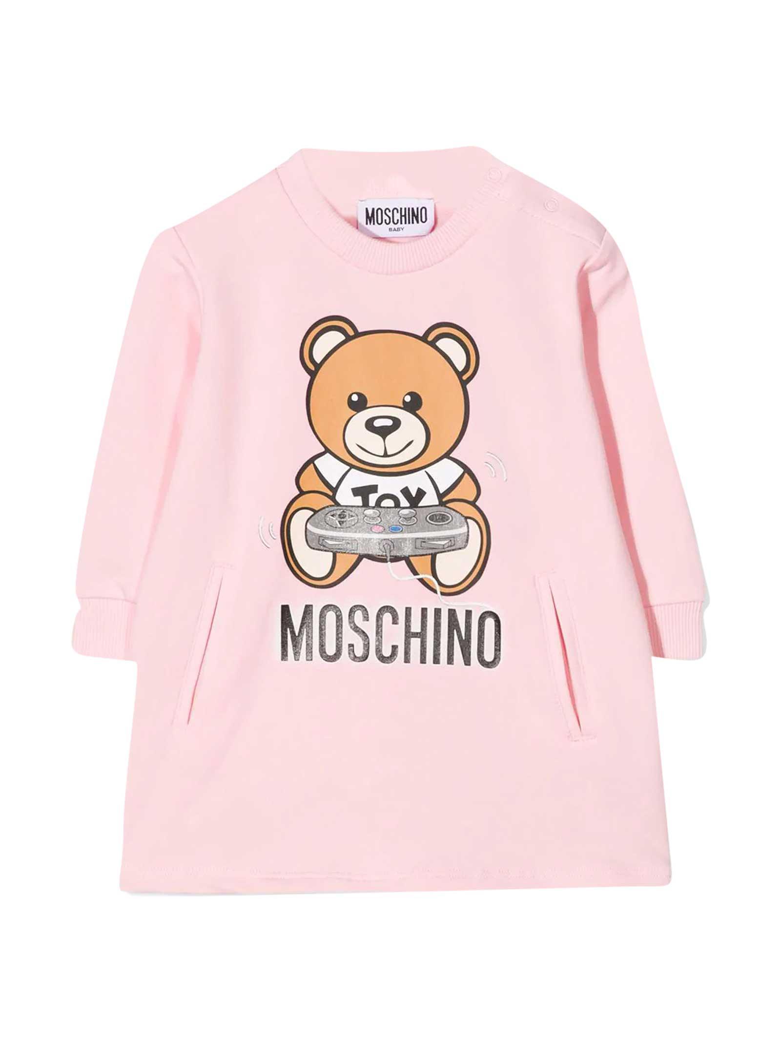 MOSCHINO PINK SWEATSHIRT DRESS