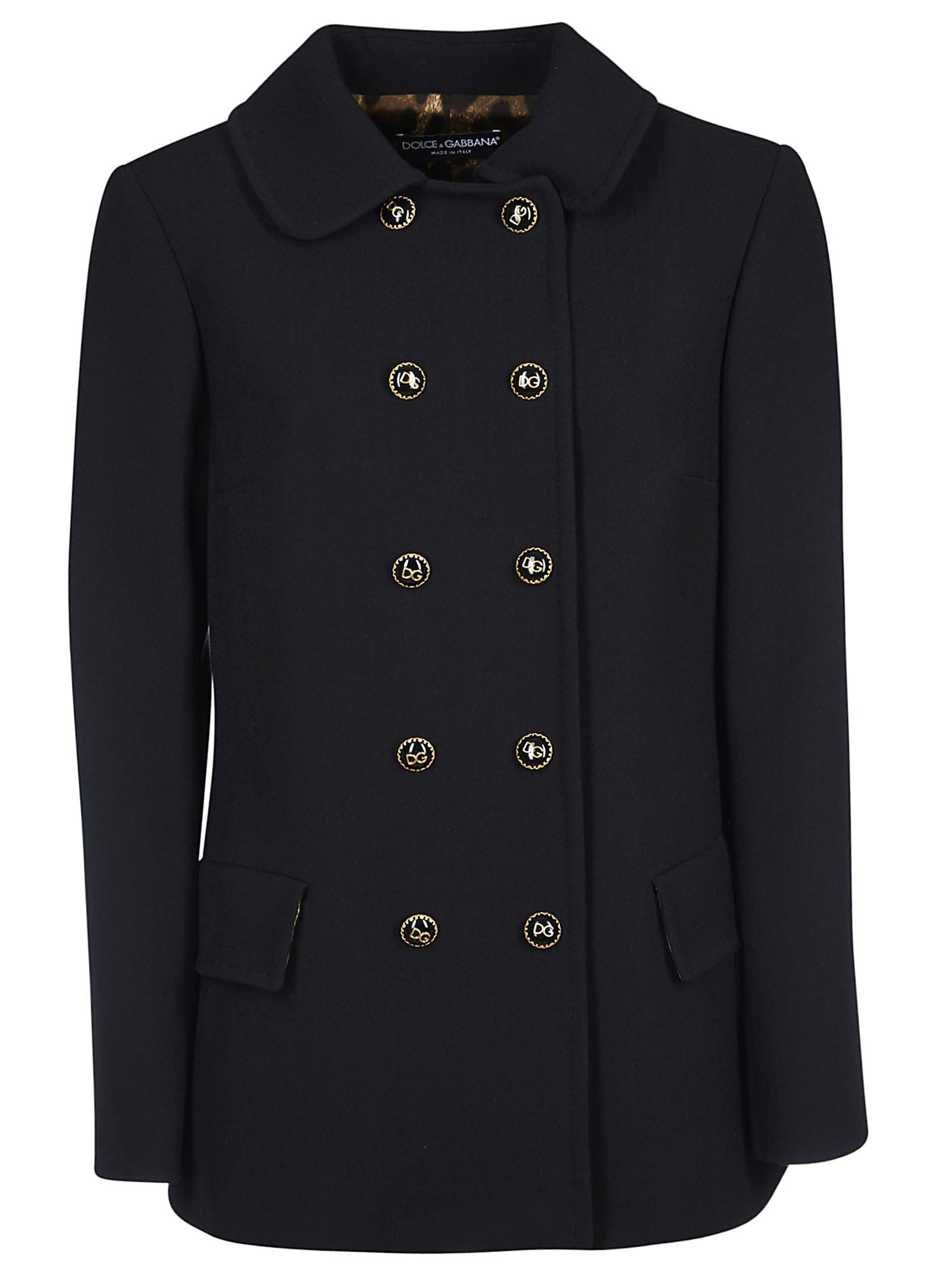 Dolce & Gabbana Double Breasted Buttoned Coat