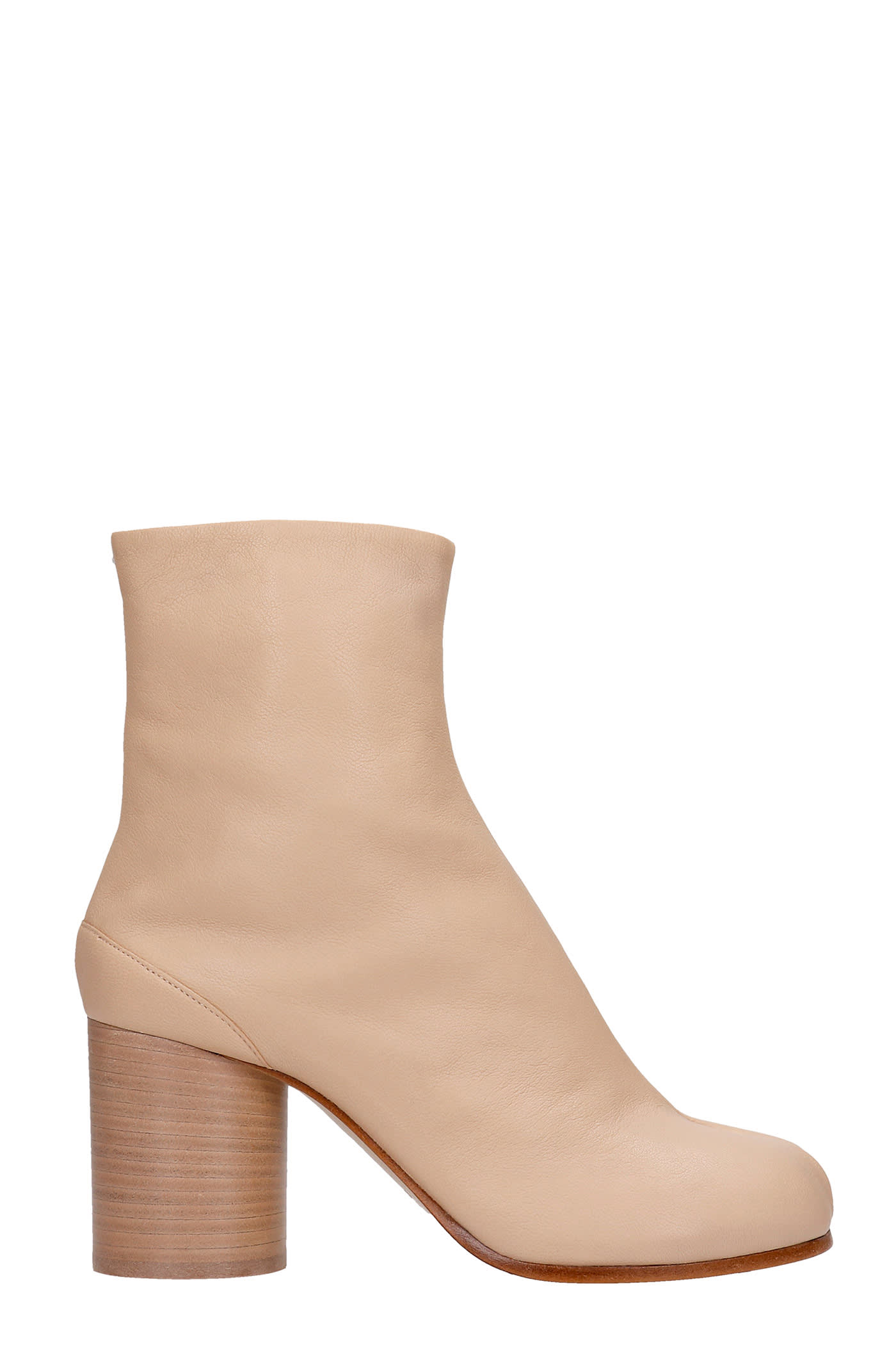 Buy Maison Margiela High Heels Ankle Boots In Powder Leather online, shop Maison Margiela shoes with free shipping