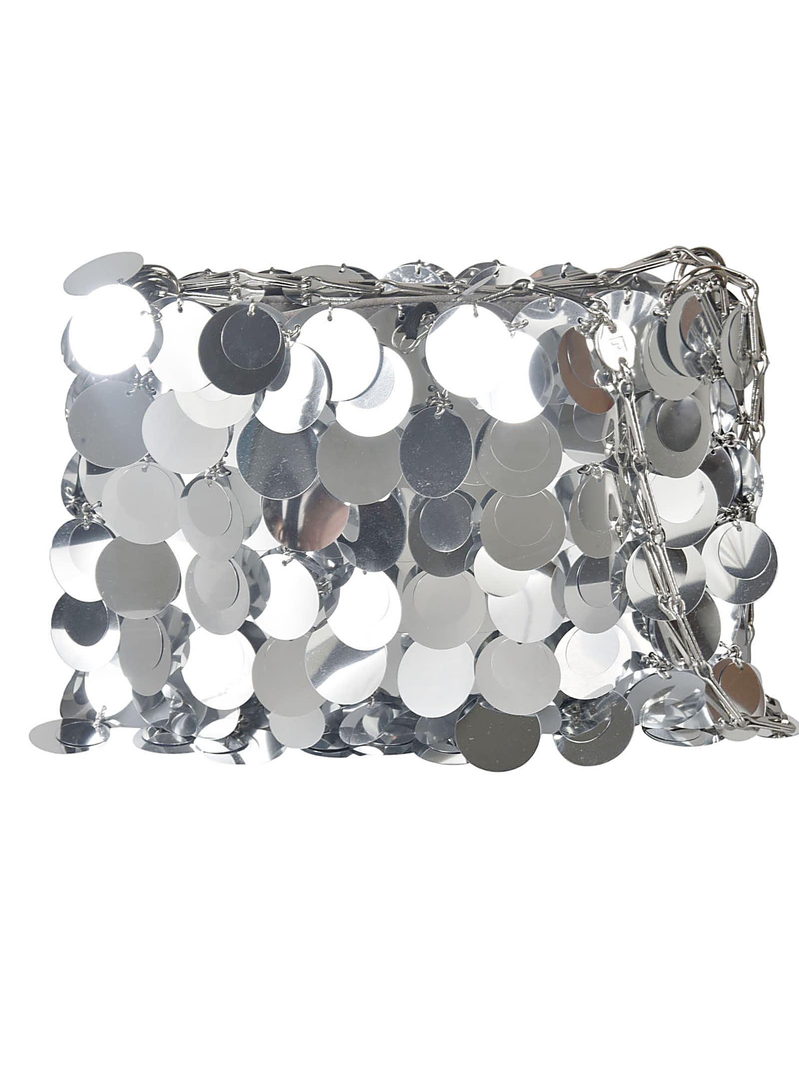 Paco Rabanne Metallic Embellished Shoulder Bag