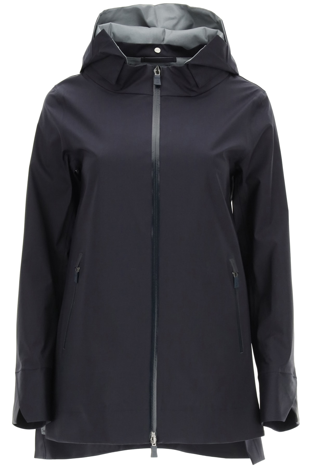 Hooded Jacket In Alabama 3-layer Cotton